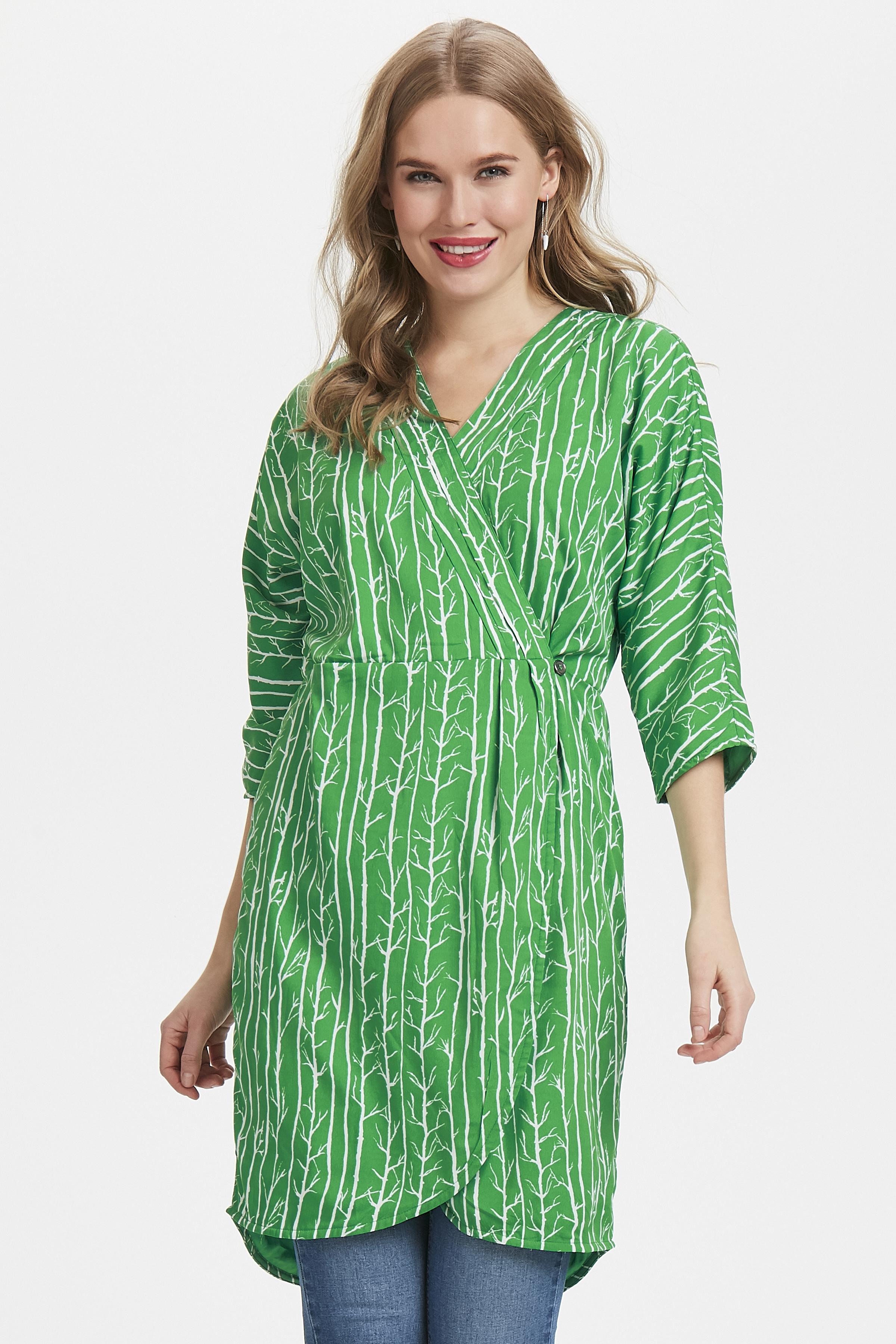 Grün/wollweiß