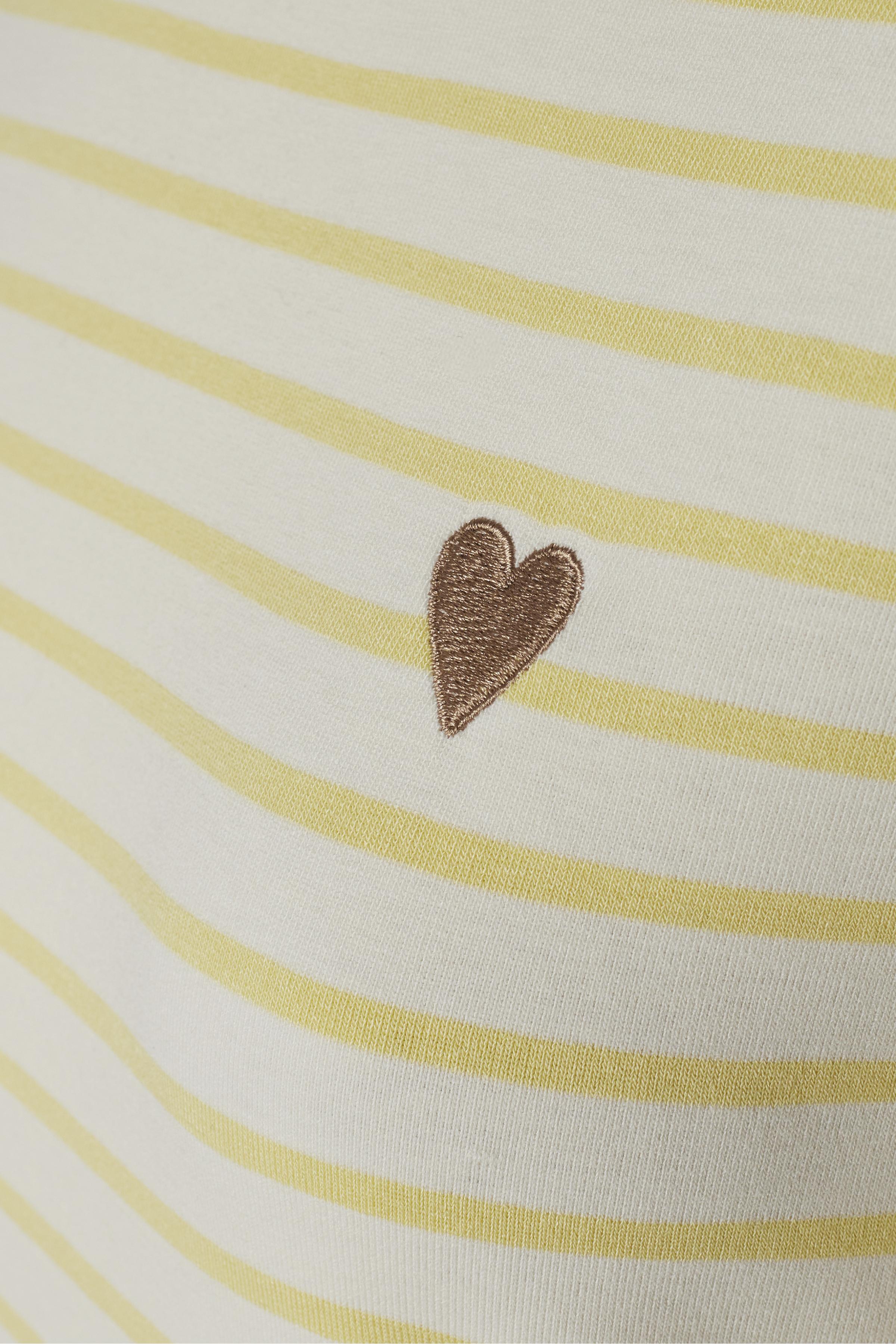 Gul/off-white Långärmad T-shirt från Kaffe – Köp Gul/off-white Långärmad T-shirt från stl. XS-XXL här
