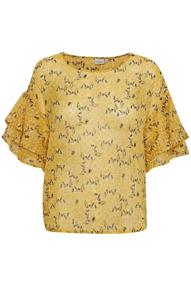 7b13a62d282 Gul/sort Kortærmet bluse fra Cream – Køb Gul/sort Kortærmet bluse fra str.  34-46 her