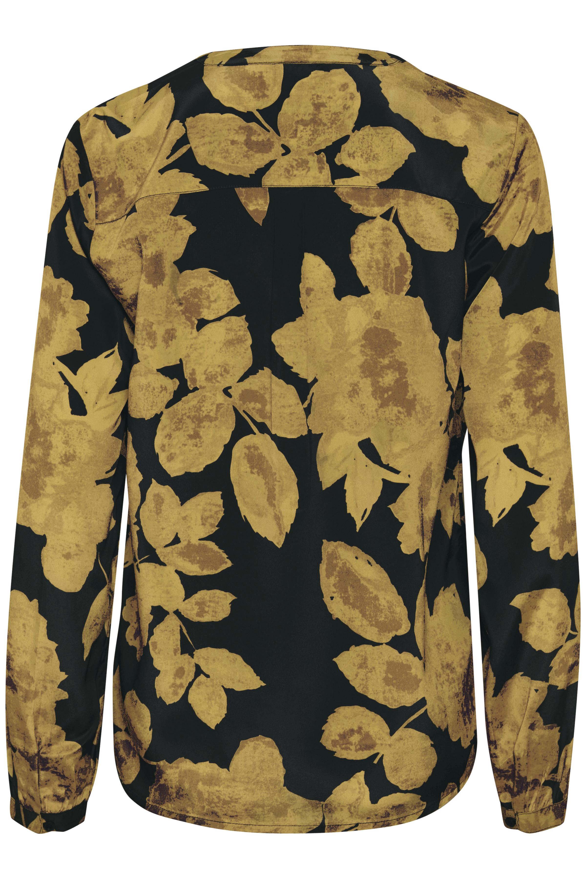 Gul/sort Langærmet bluse fra Bon'A Parte – Køb Gul/sort Langærmet bluse fra str. S-2XL her