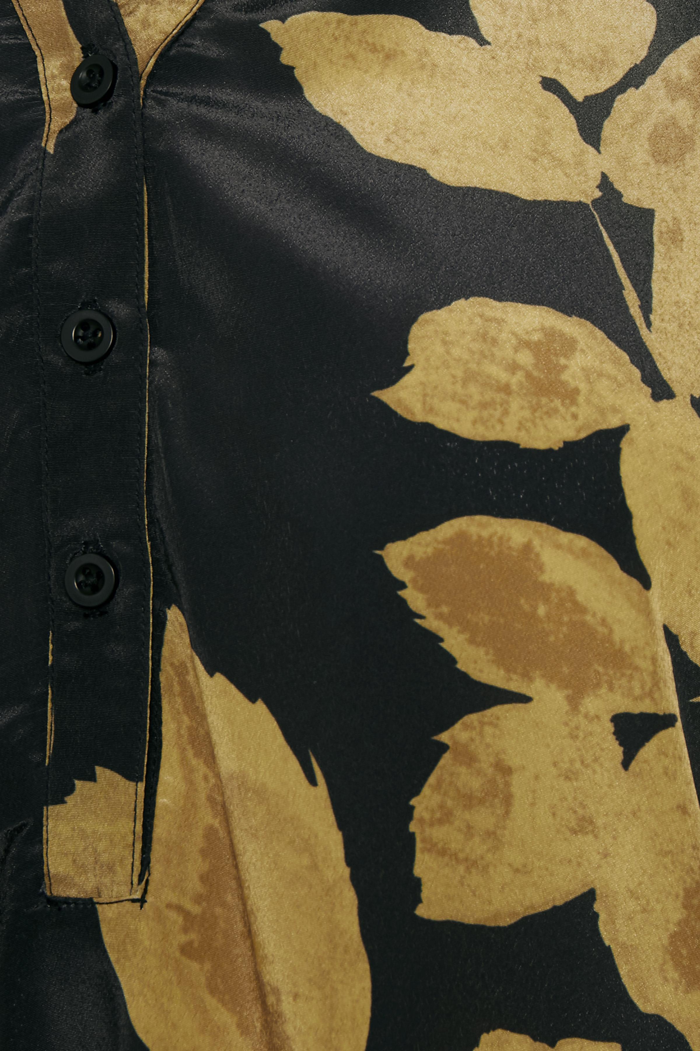 Gul/svart Långärmad blus från Bon'A Parte – Köp Gul/svart Långärmad blus från stl. S-2XL här