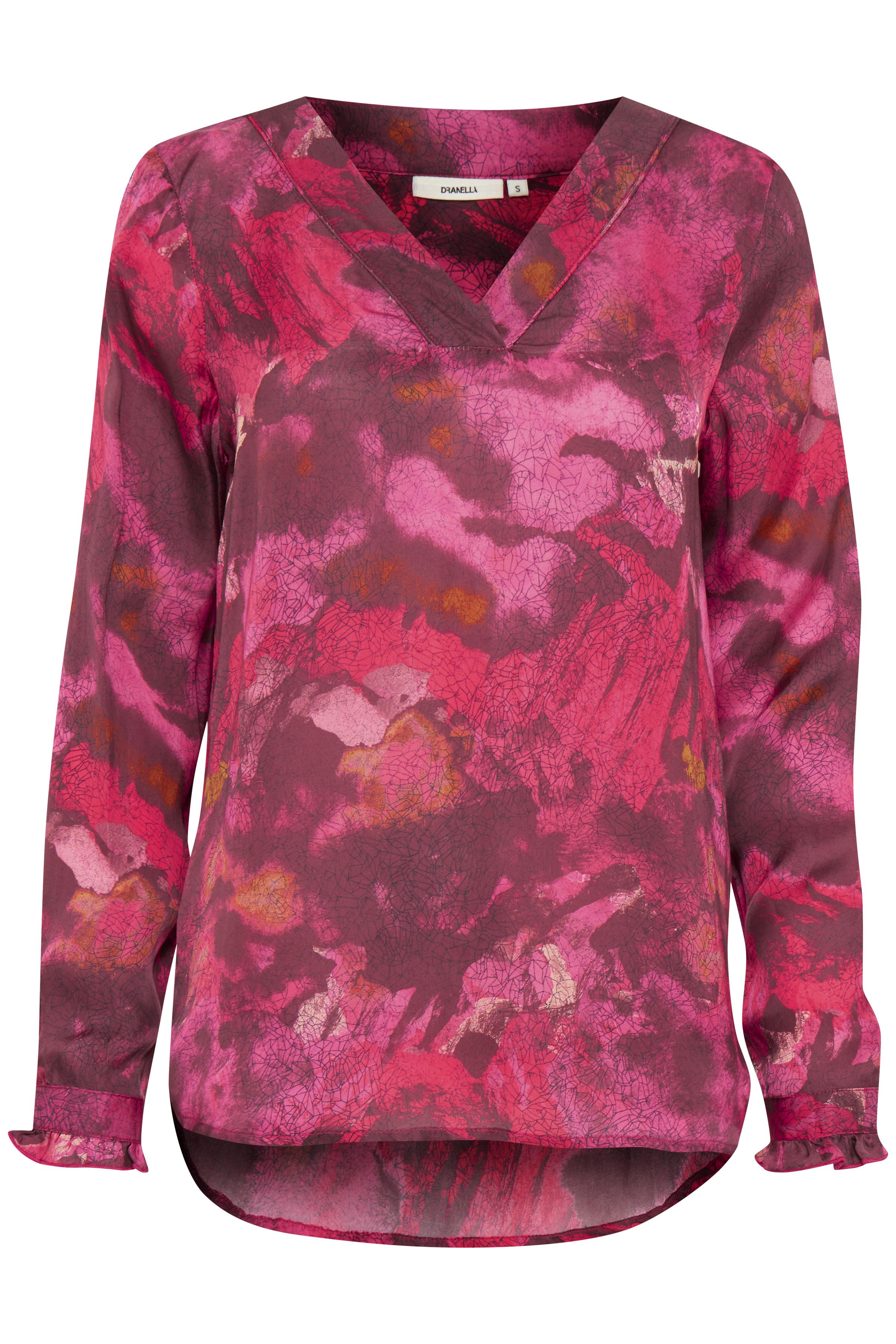 Hallonröd Långärmad blus från Dranella – Köp Hallonröd Långärmad blus från stl. XS-XXL här