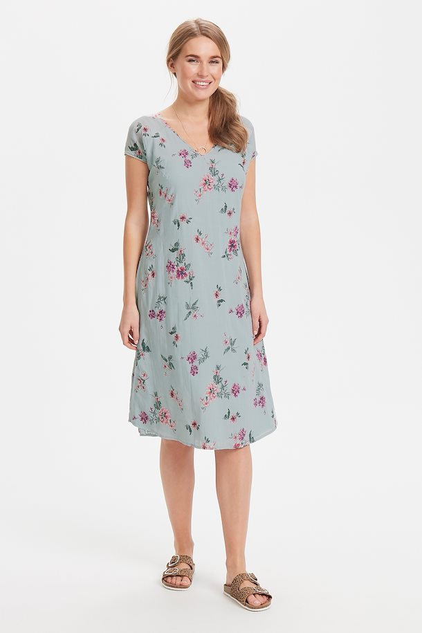 Hellblau/fuchsia Kleid von Bon'A Parte - Shoppen Sie ...