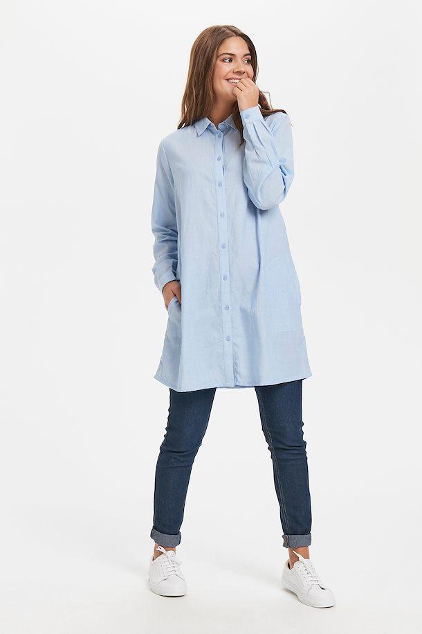 Hellblau/weiß Kleid von Kaffe - Shoppen Sie Hellblau/weiß ...