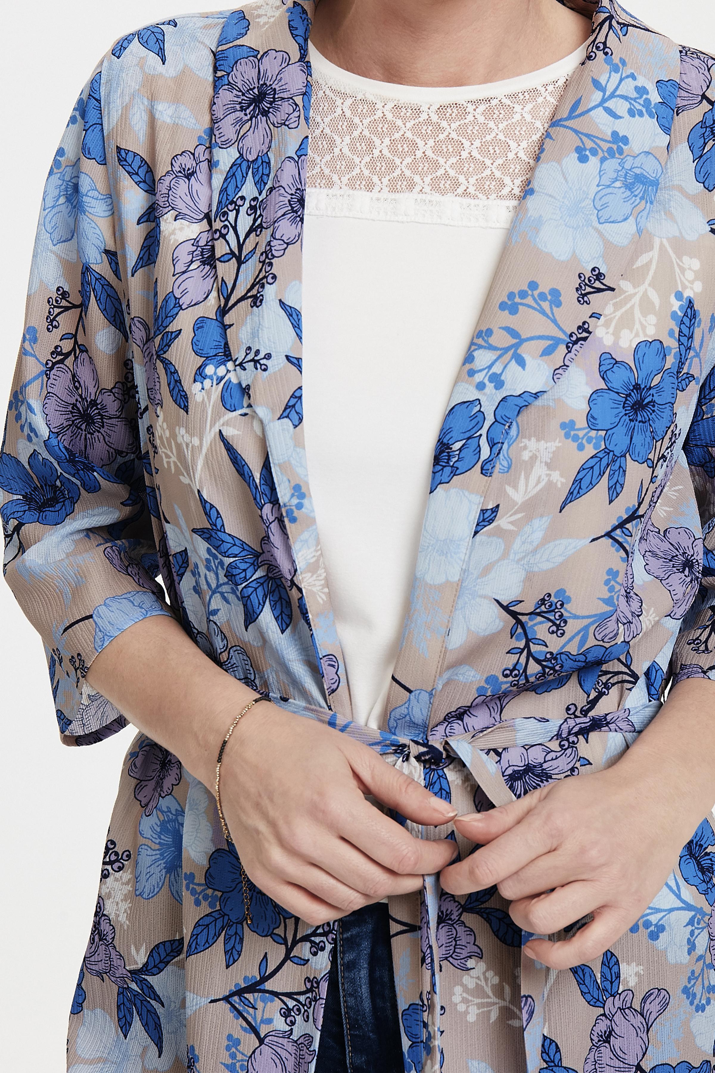 Hellgrau/blau Kimono von Dranella – Shoppen Sie Hellgrau/blau Kimono ab Gr. XS-XXL hier