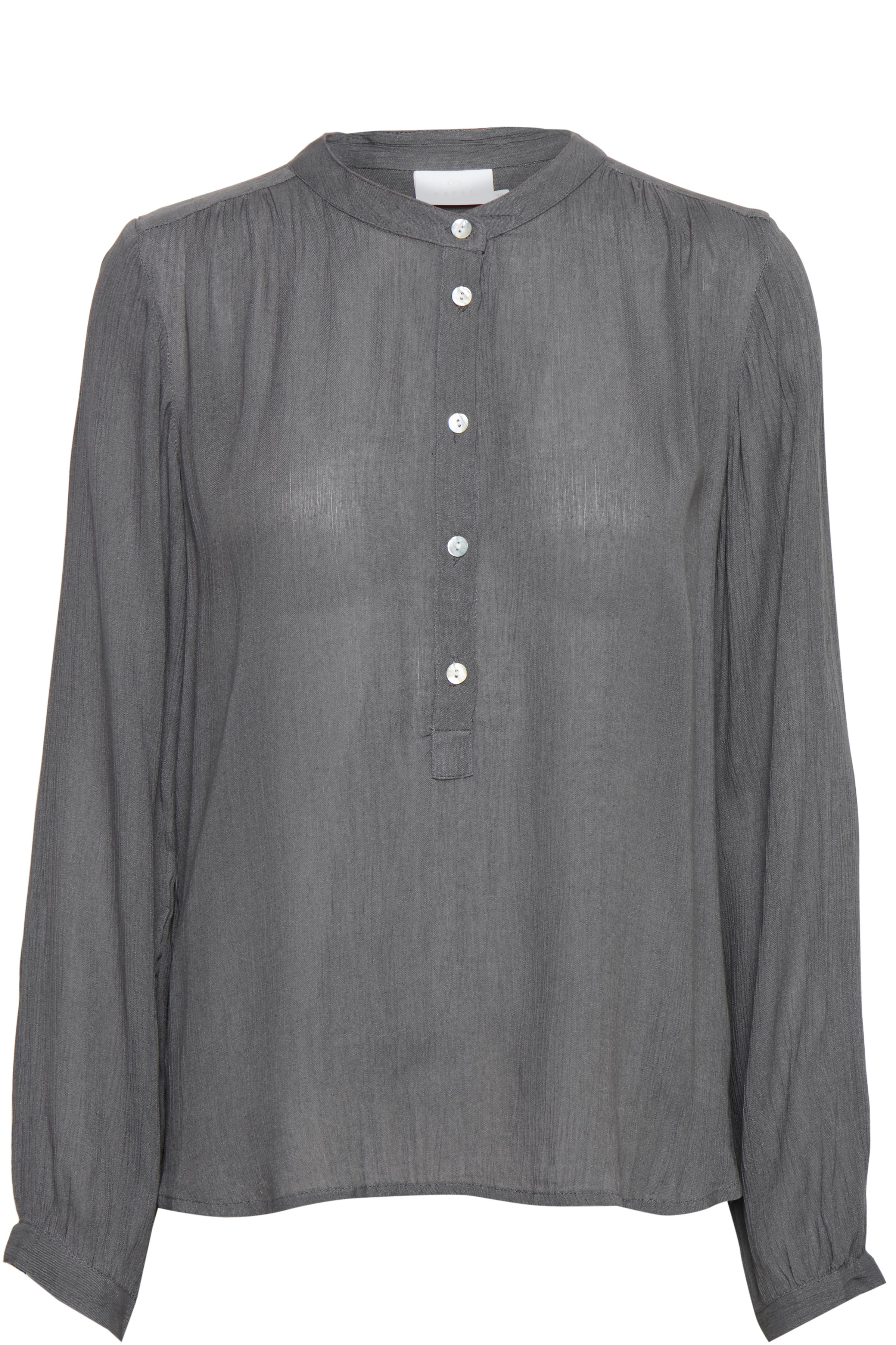 Hellgrau Langarm-Bluse von Kaffe – Shoppen Sie Hellgrau Langarm-Bluse ab Gr. 34-46 hier