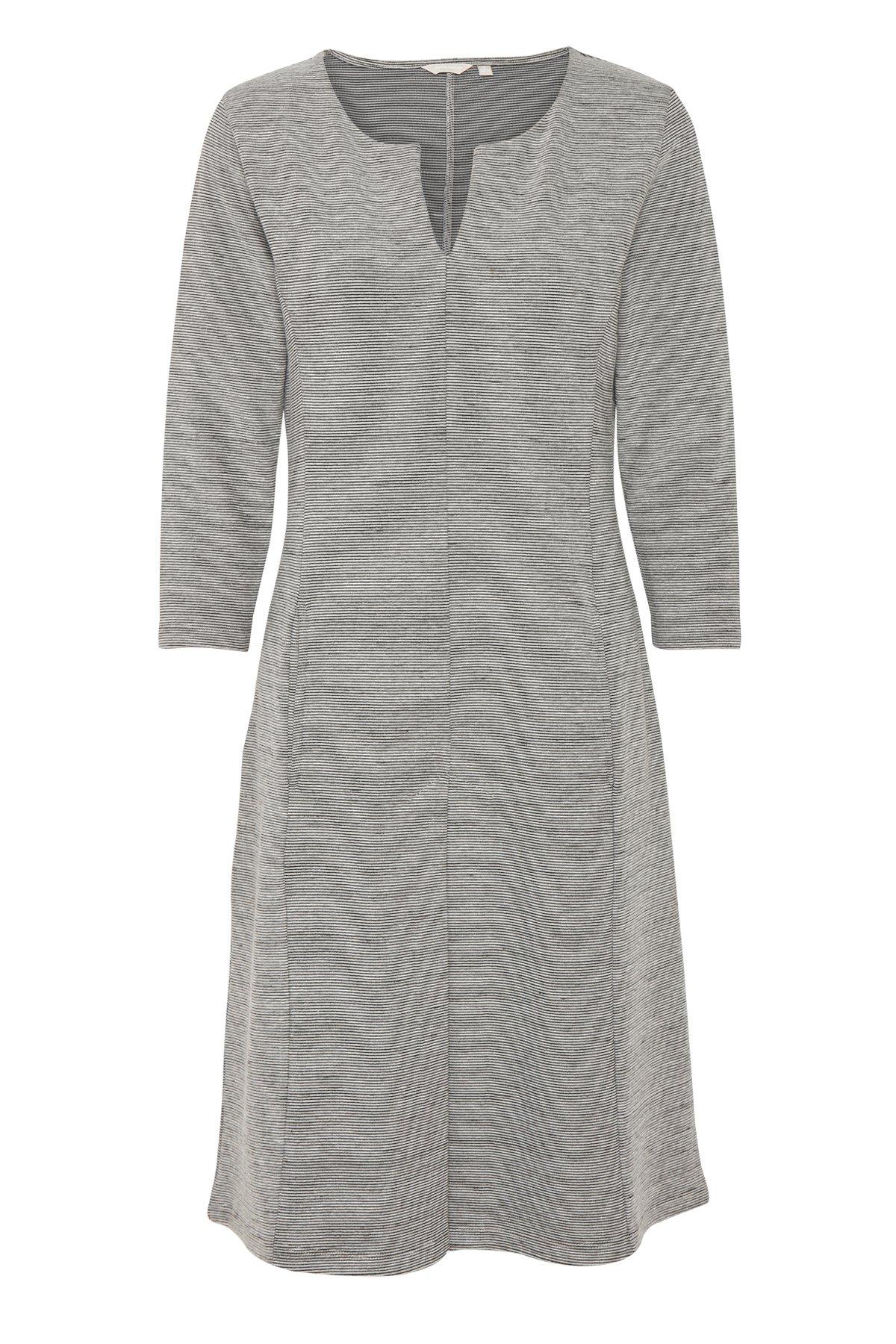 Hellgrau meliert Kleid von Bon'A Parte – Shoppen Sie Hellgrau meliert Kleid ab Gr. S-2XL hier