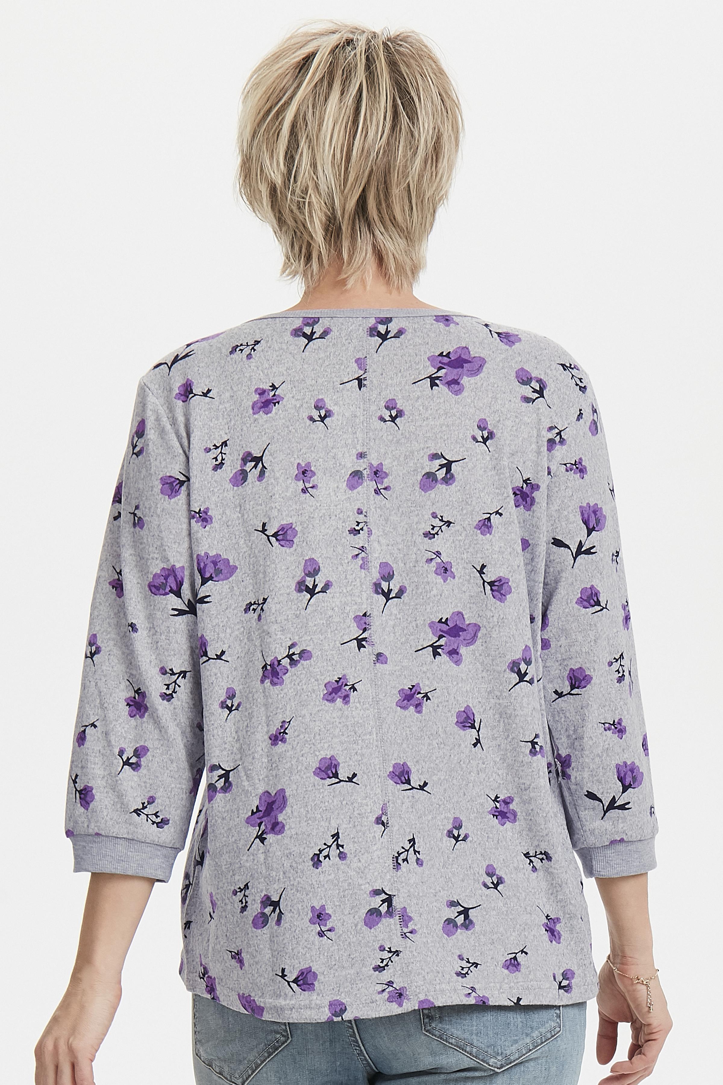 Hellgrau meliert/lila Bluse von Fransa – Shoppen SieHellgrau meliert/lila Bluse ab Gr. XS-XXL hier