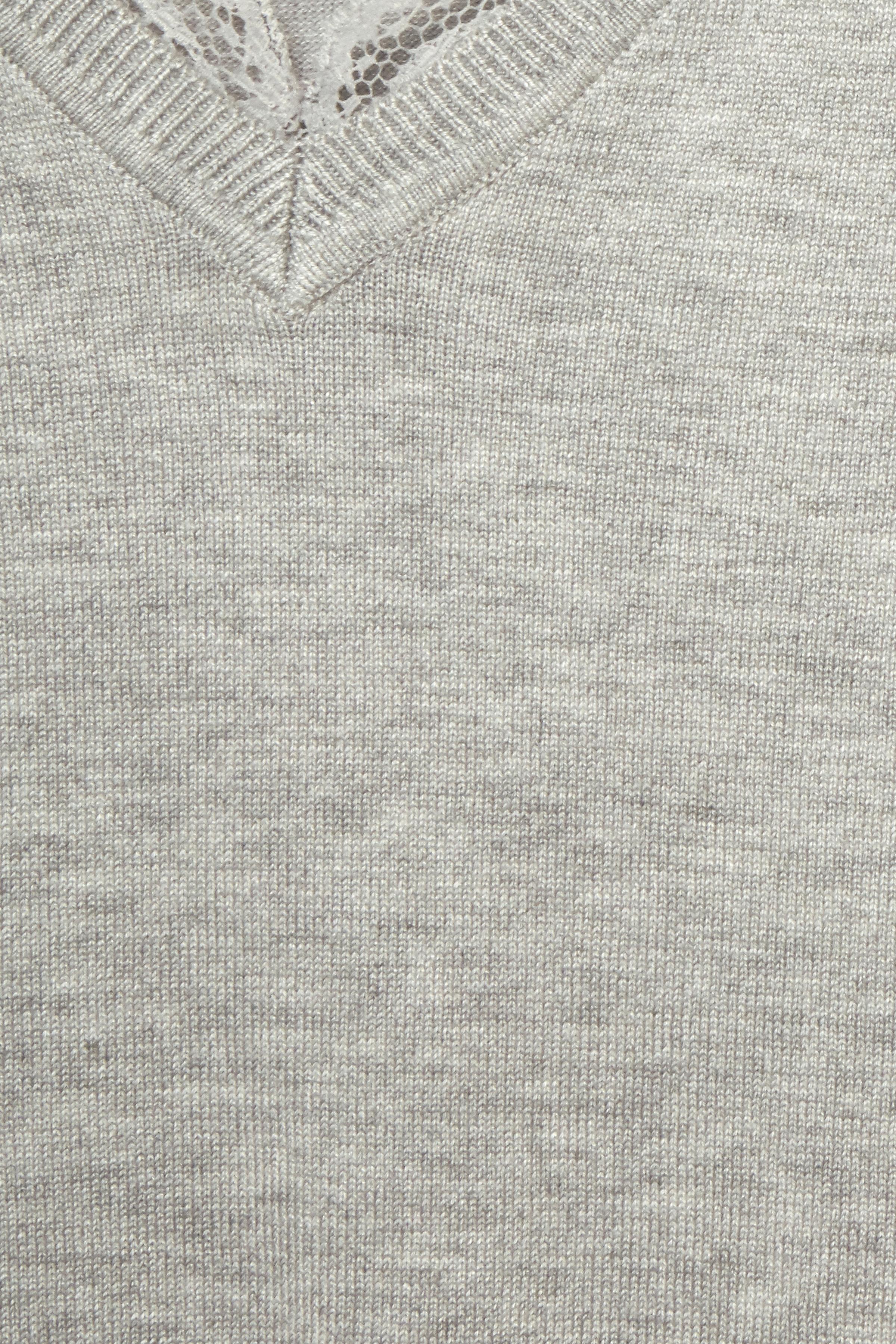 Hellgrau meliert Strickpullover von Fransa – Shoppen Sie Hellgrau meliert Strickpullover ab Gr. XS-XXL hier