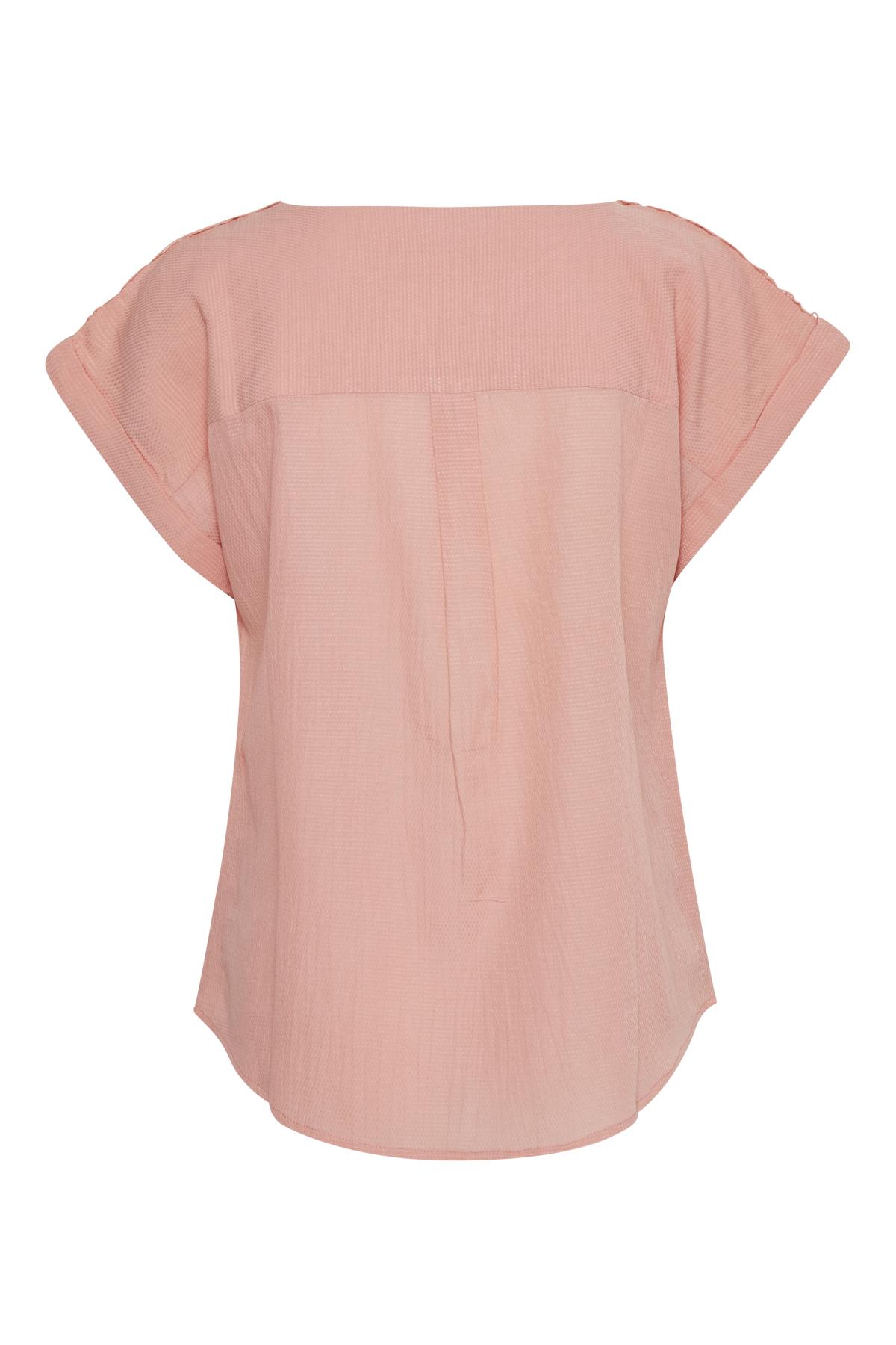 Hellkoralle Kurzarm-Bluse von Bon'A Parte – Shoppen Sie Hellkoralle Kurzarm-Bluse ab Gr. S-2XL hier