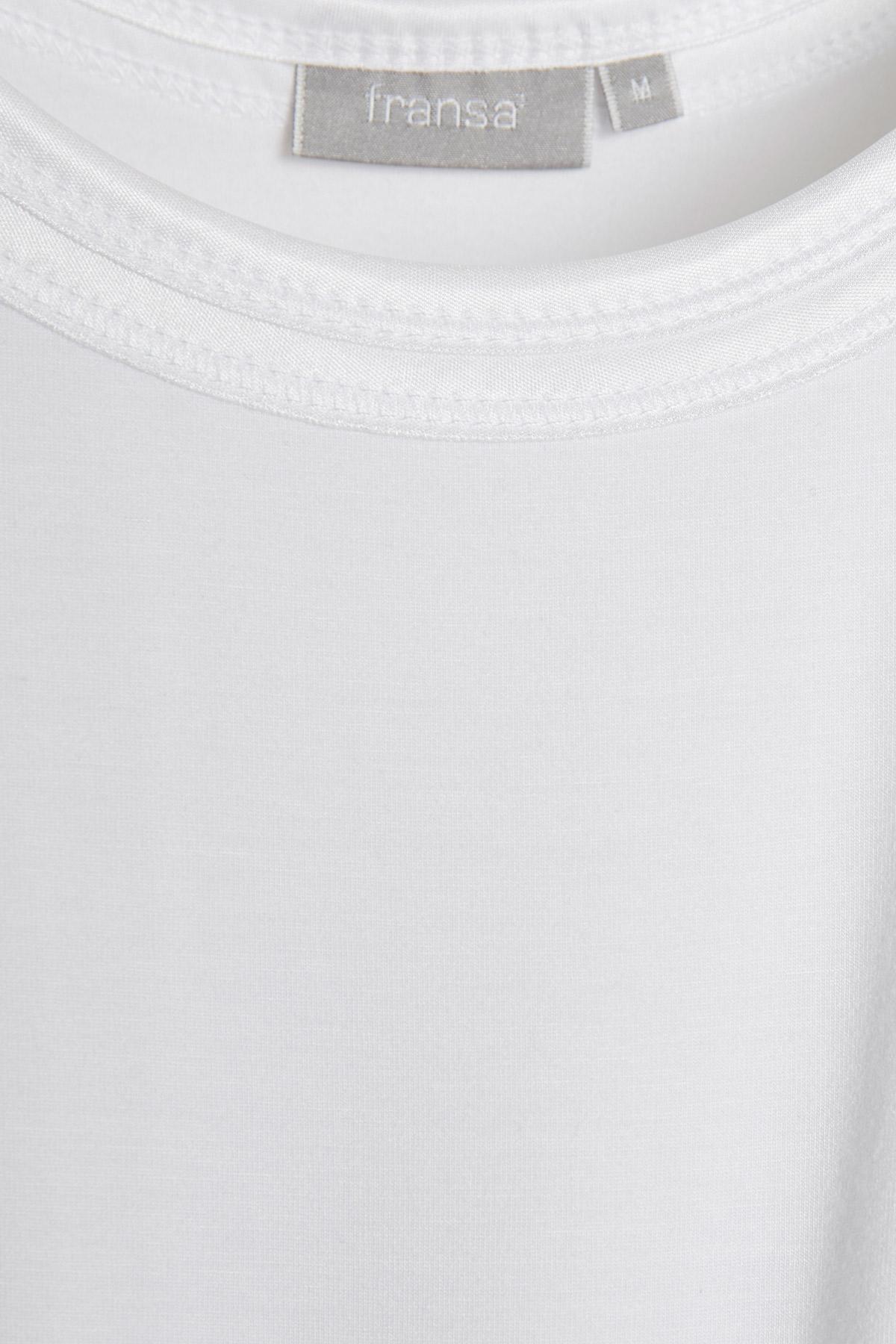 Hvid Ærmeløs top fra Fransa – Køb Hvid Ærmeløs top fra str. XS-XXL her