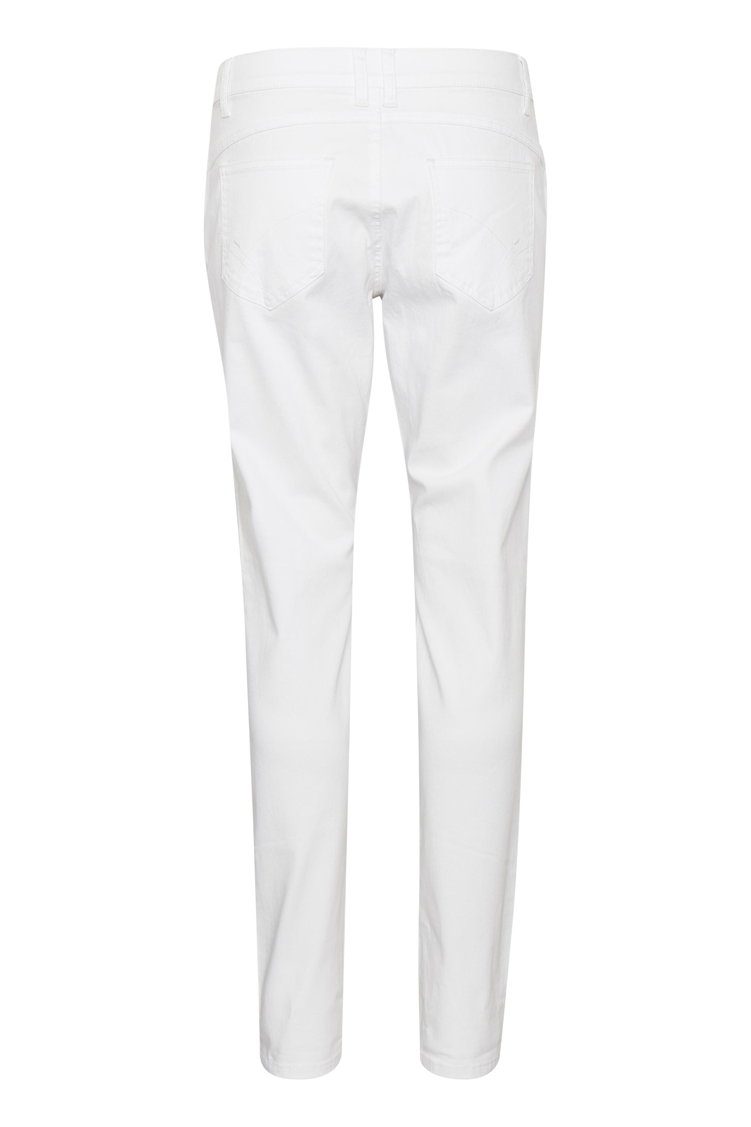 Hvid Ankel-denimbuks fra Bon'A Parte – Køb Hvid Ankel-denimbuks fra str. 36-48 her