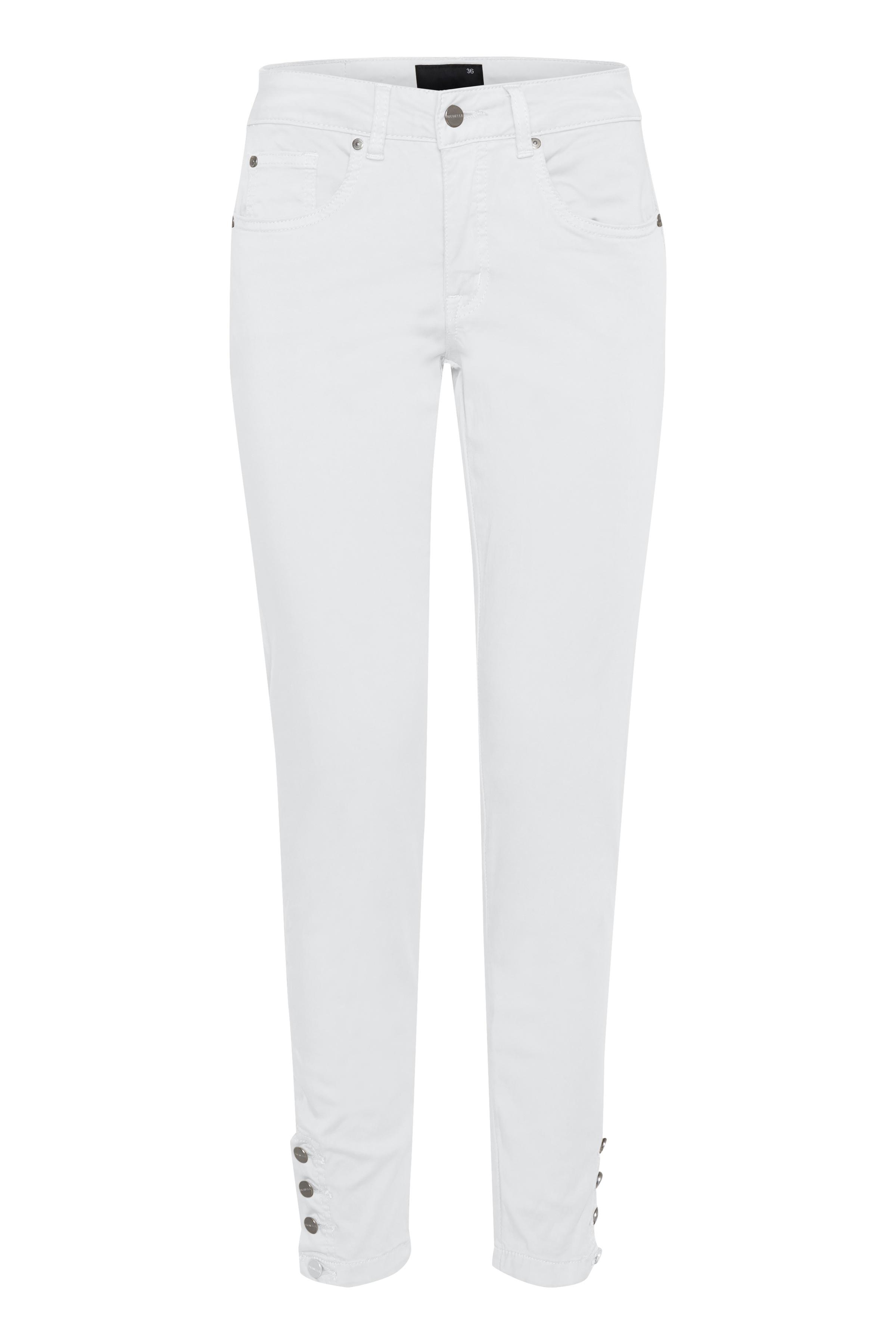 Image of Dranella Dame 5-lommet bløde bukser med stretch - Hvid
