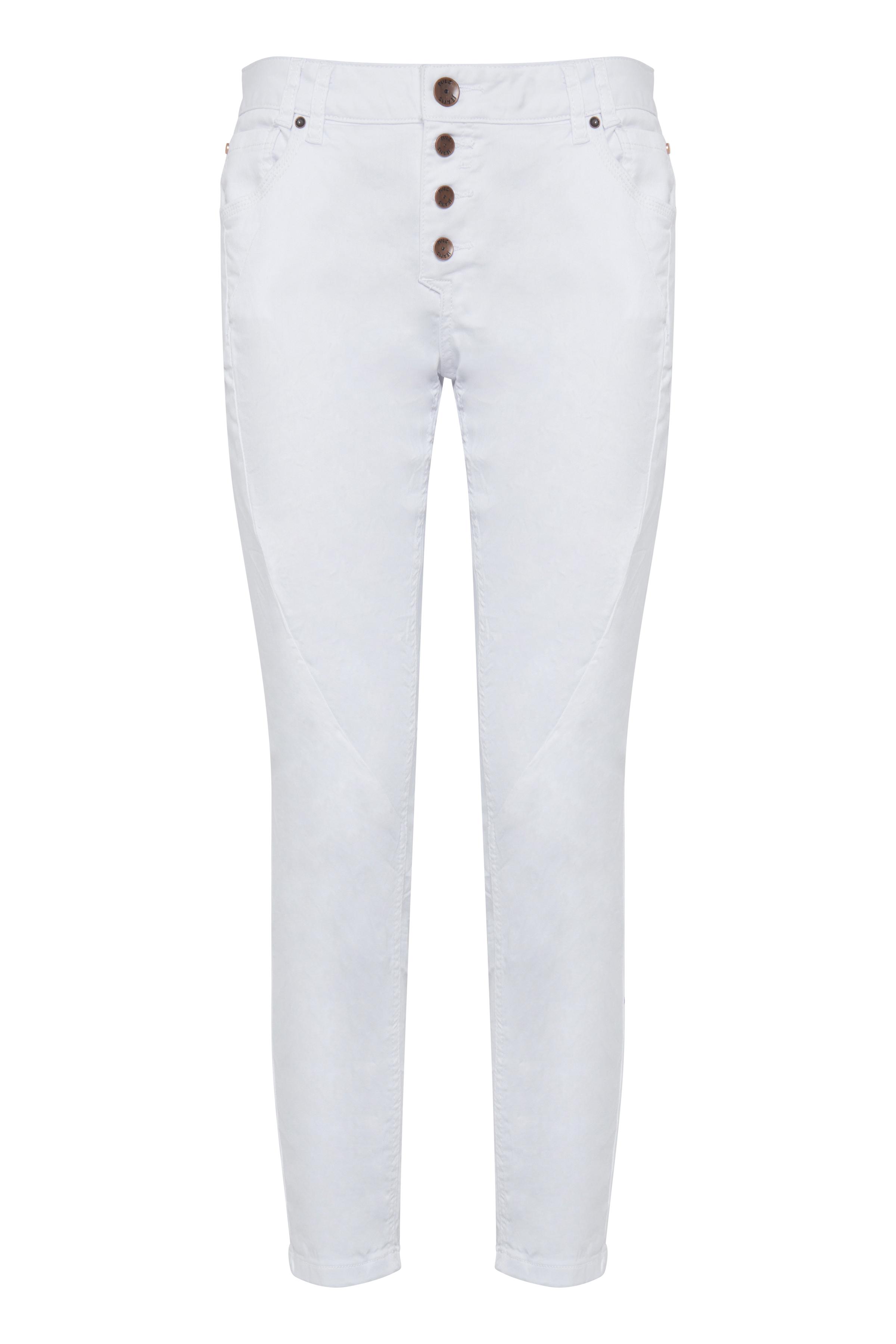 Pulz Jeans Dame 5-lommet Rosita ankelbukser  - Hvid
