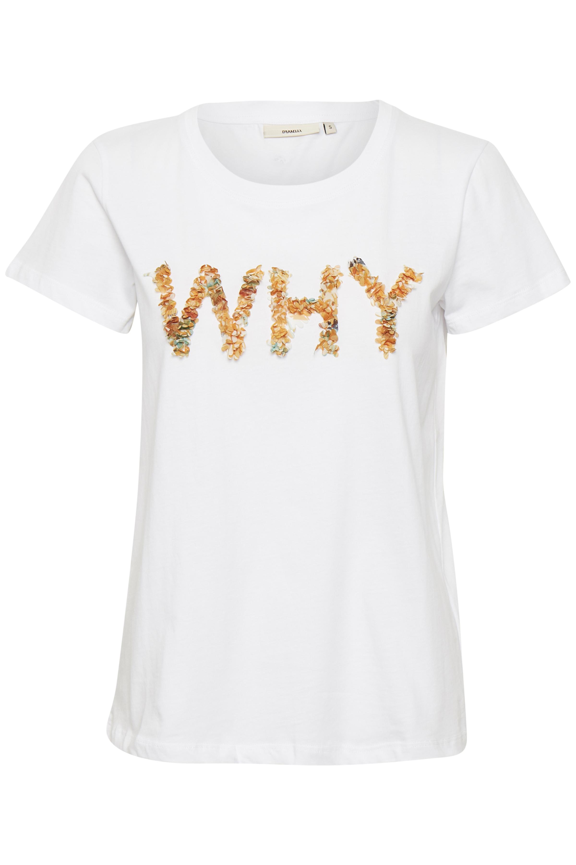 Image of Dranella Dame T-shirt - Hvid/gul