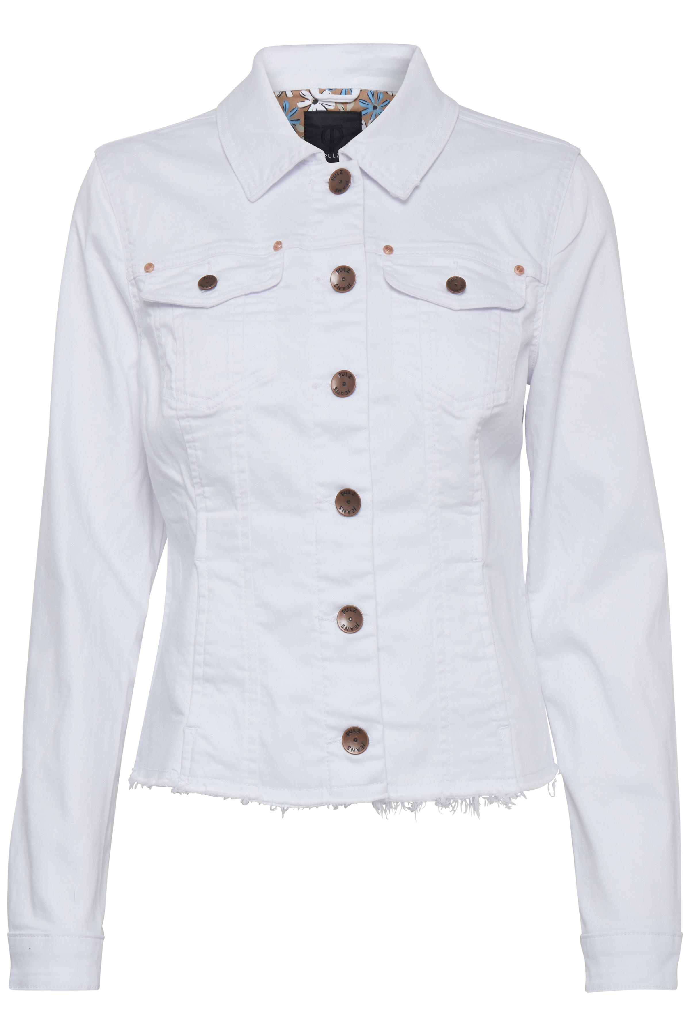 Image of Pulz Jeans Dame Jakke - Hvid