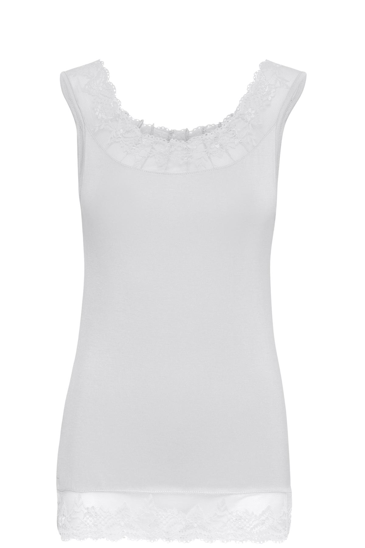 Image of Cream Dame Jerseytop - Hvid