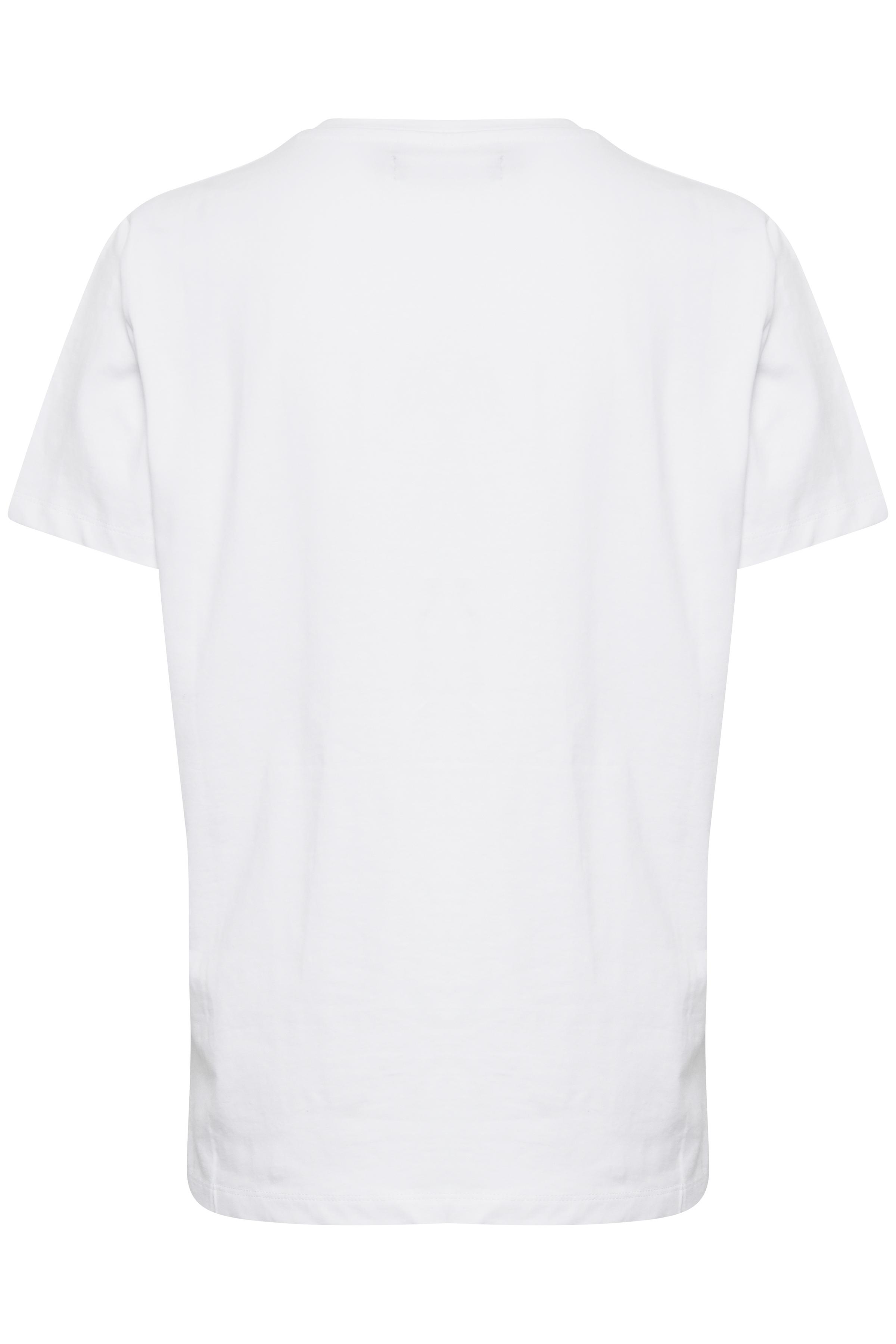 Hvid Kortærmet T-shirt fra b.young – Køb Hvid Kortærmet T-shirt fra str. XS-XXL her