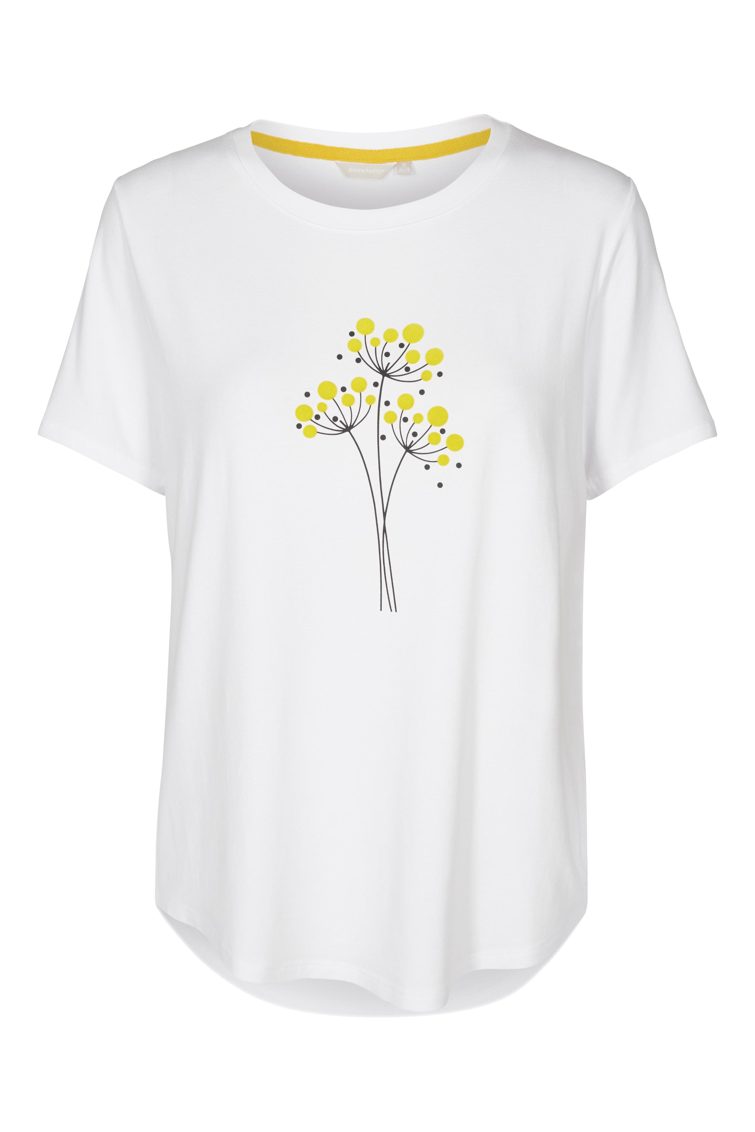 Hvid Kortærmet T-shirt fra Bon'A Parte – Køb Hvid Kortærmet T-shirt fra str. S-2XL her