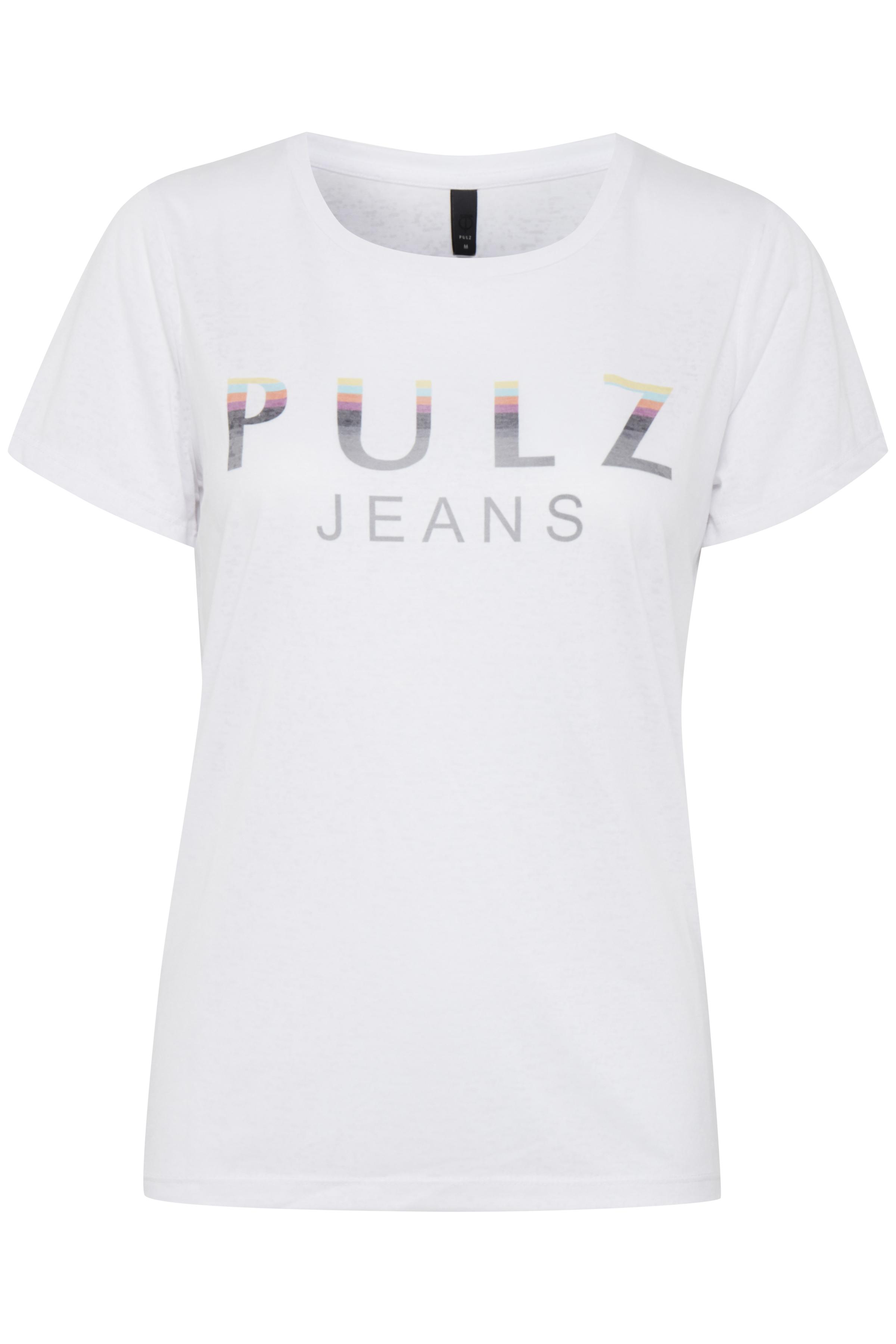 Hvid Kortærmet T-shirt fra Pulz Jeans – Køb Hvid Kortærmet T-shirt fra str. XS-XXL her