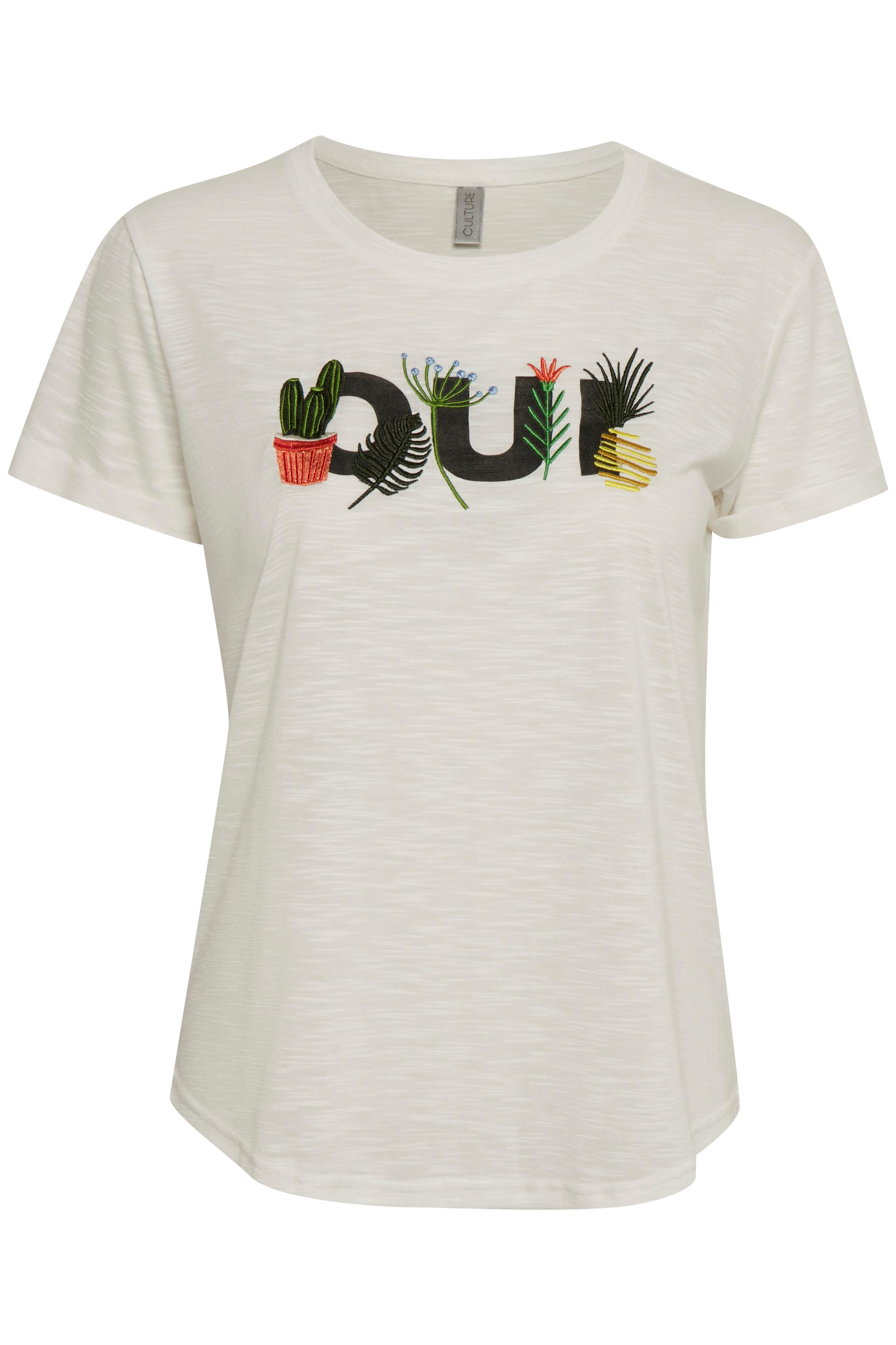 Image of Culture Dame Smart Adi T-shirt - Hvid