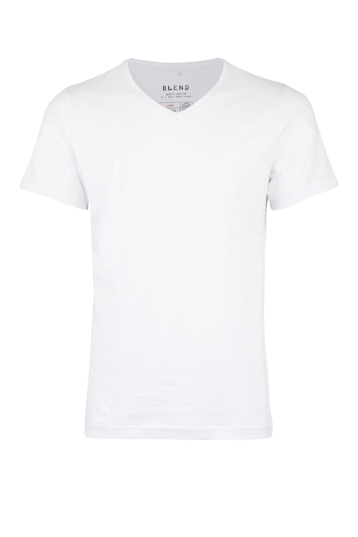 Hvid Kortærmet T-shirt fra Blend He – Køb Hvid Kortærmet T-shirt fra str. S-XXL her