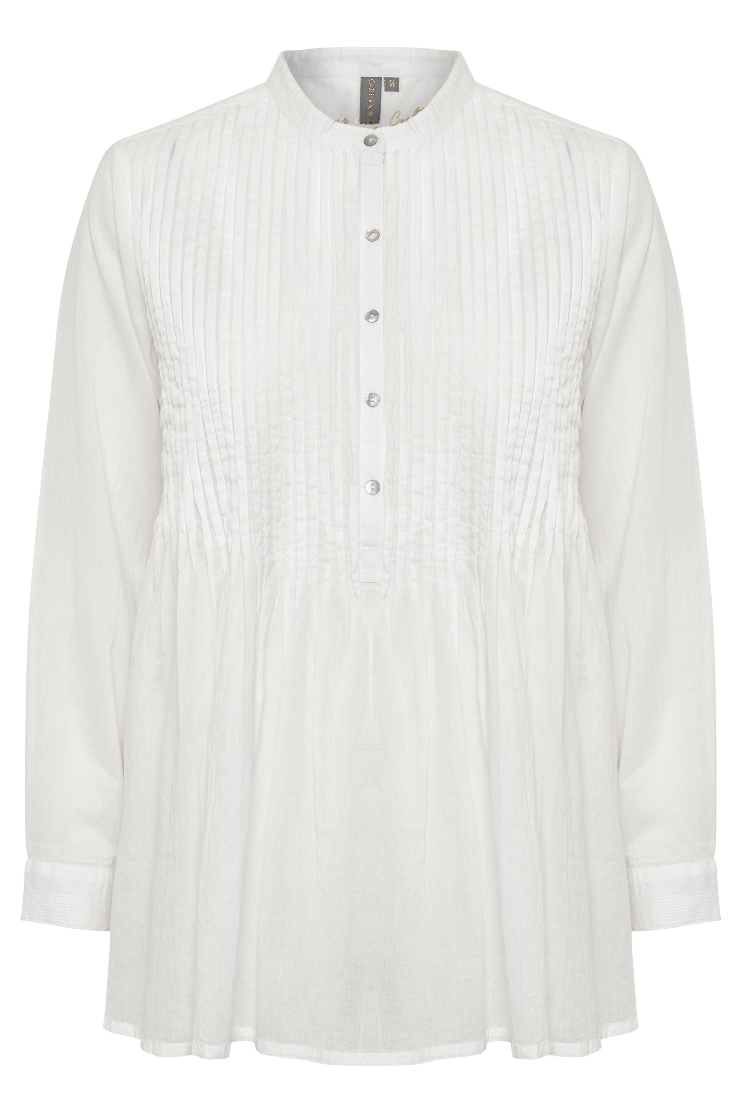 Culture Dame Bluse med rund hals  - Hvid
