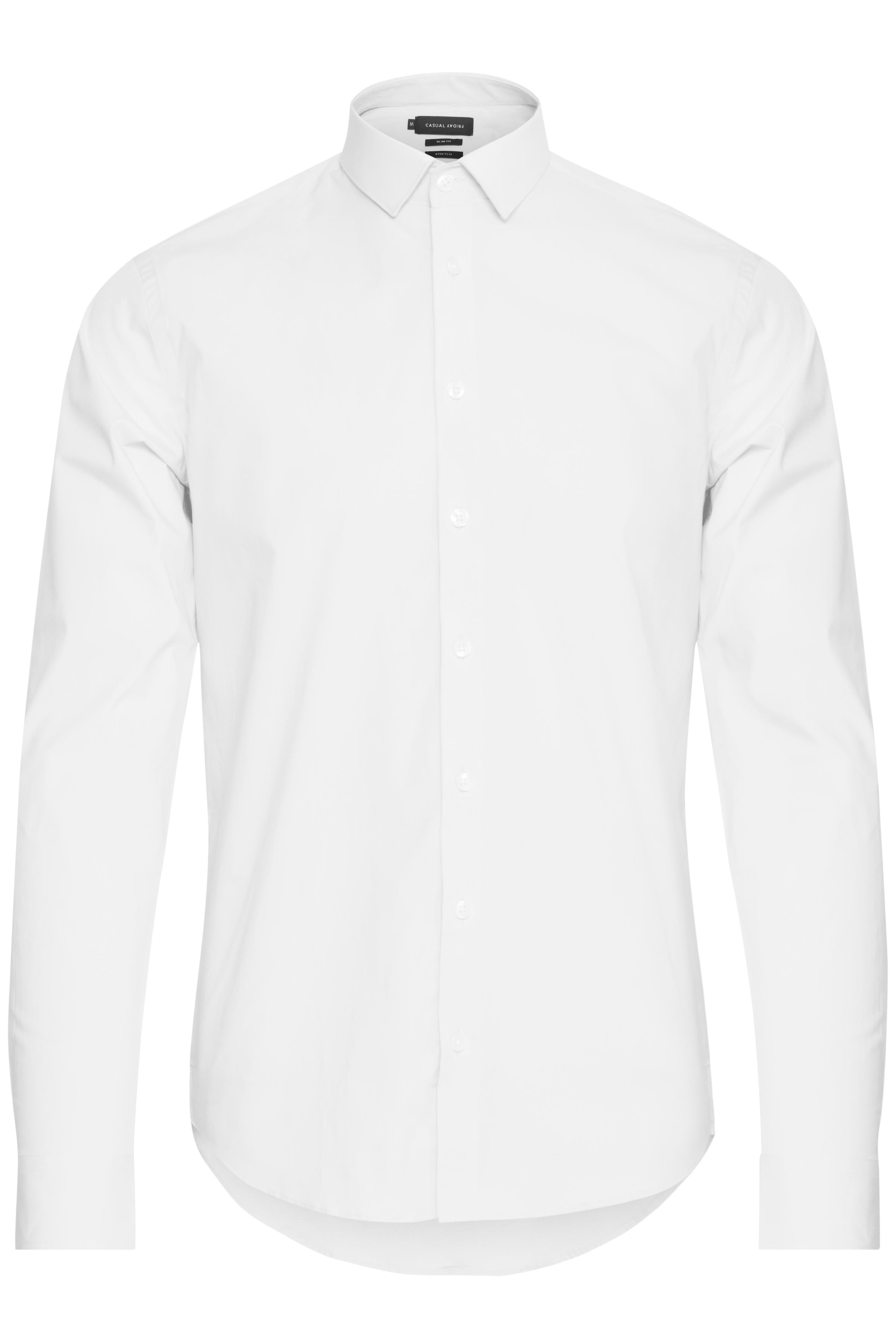 Image of Casual Friday Herre Flot skjorte - Hvid