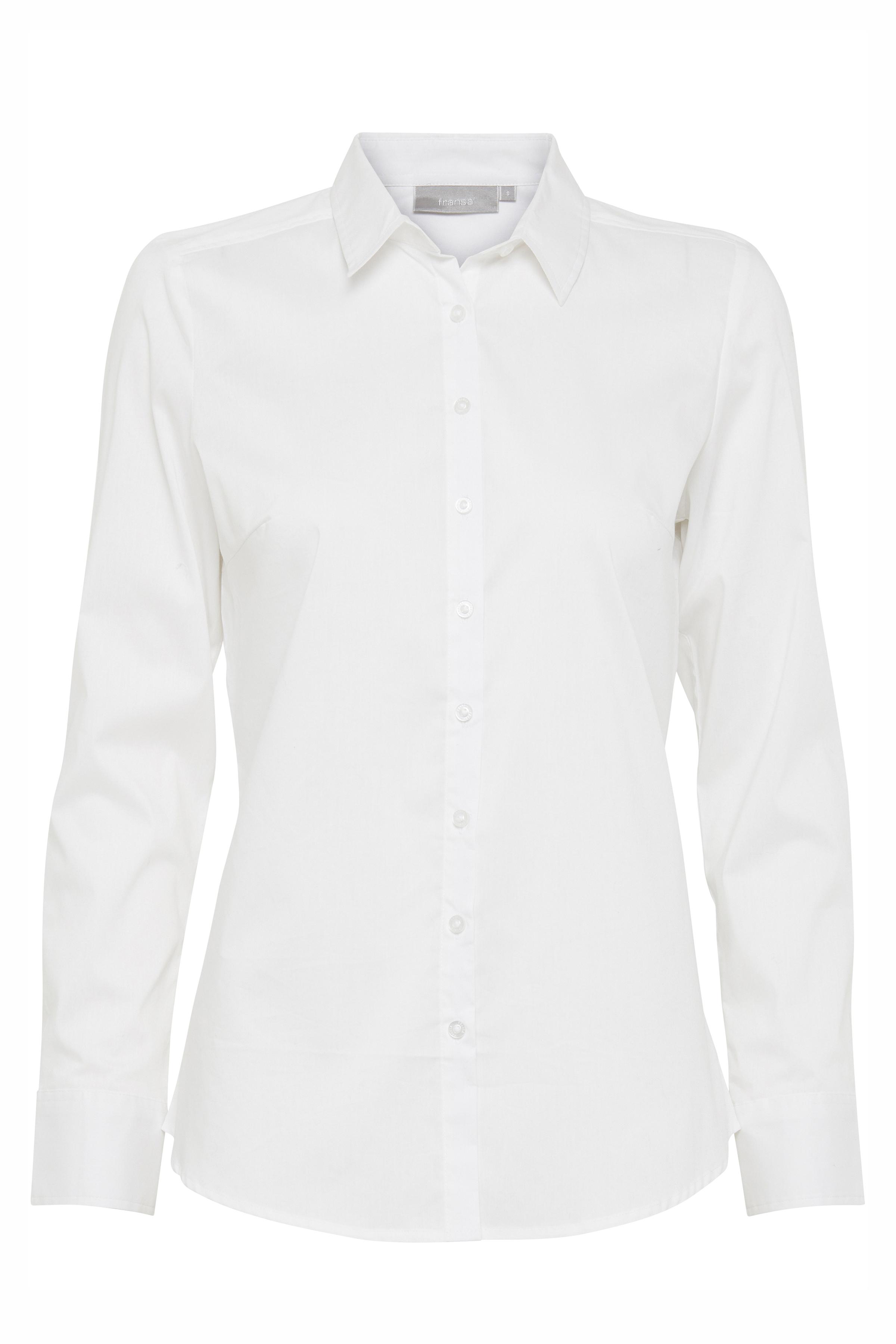 Image of Fransa Dame Langærmet skjorte - Hvid