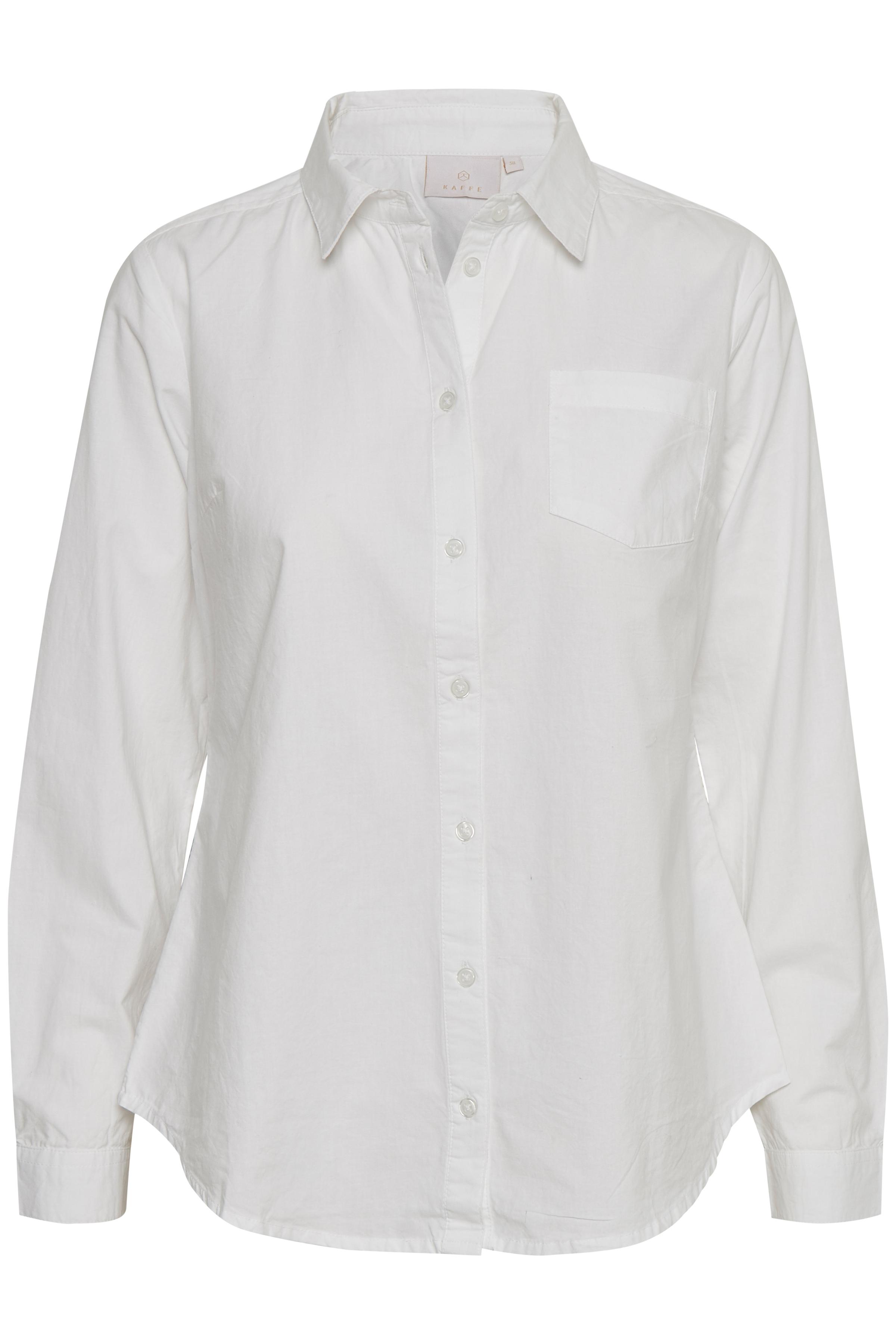 Hvid Langærmet skjorte fra Kaffe – Køb Hvid Langærmet skjorte fra str. 34-46 her
