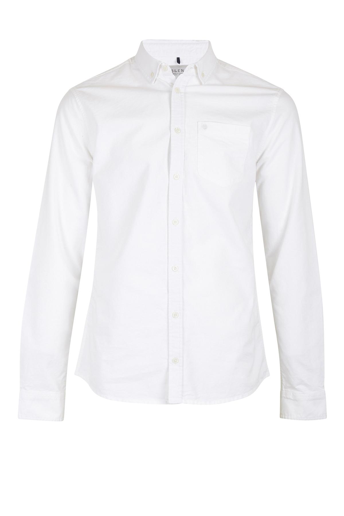 Image of Blend He Herre Langærmet skjorte - Hvid