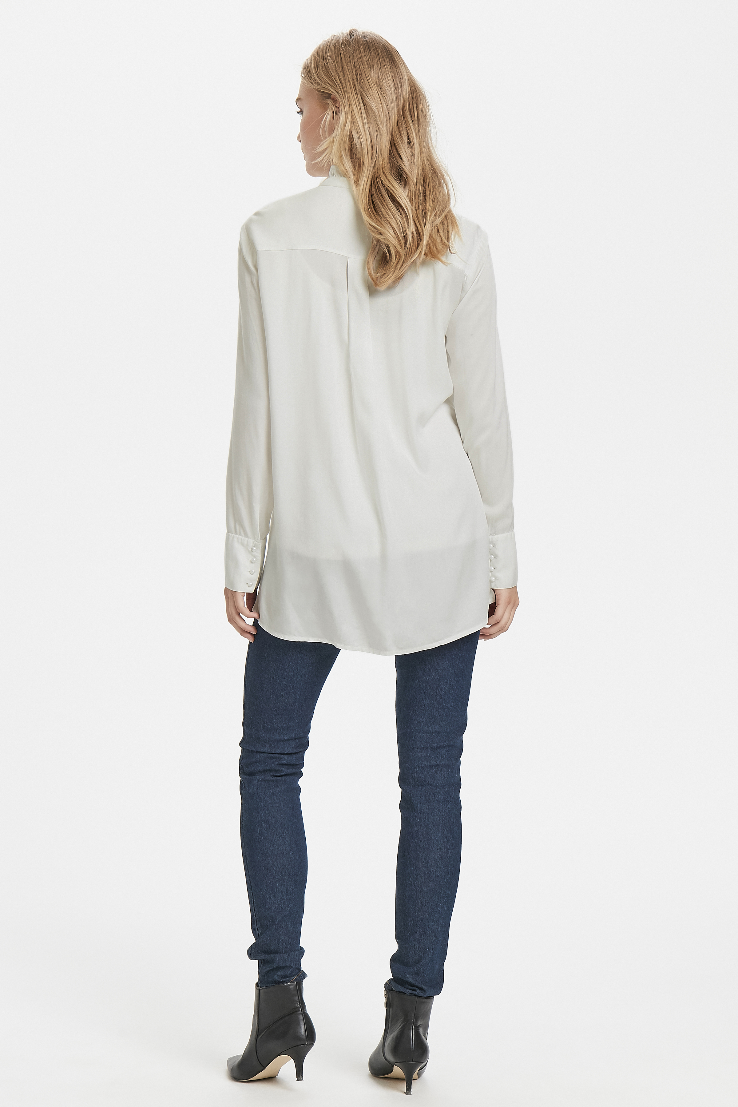Hvid Langærmet skjorte fra Fransa – Køb Hvid Langærmet skjorte fra str. XS-XXL her