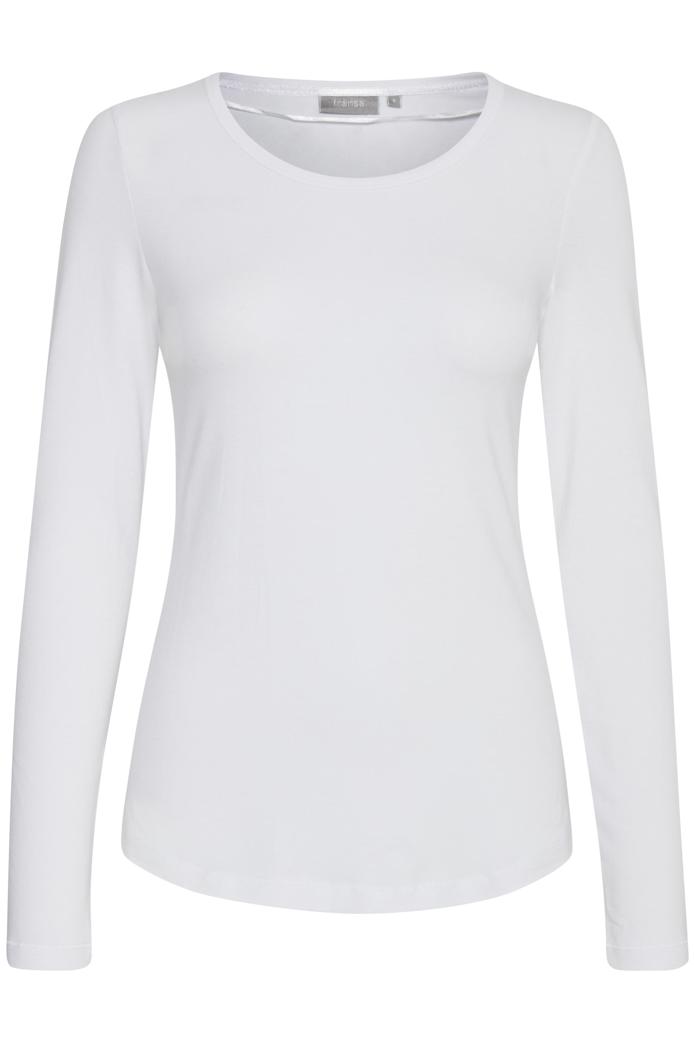 Image of Fransa Dame Langærmet T-shirt - Hvid