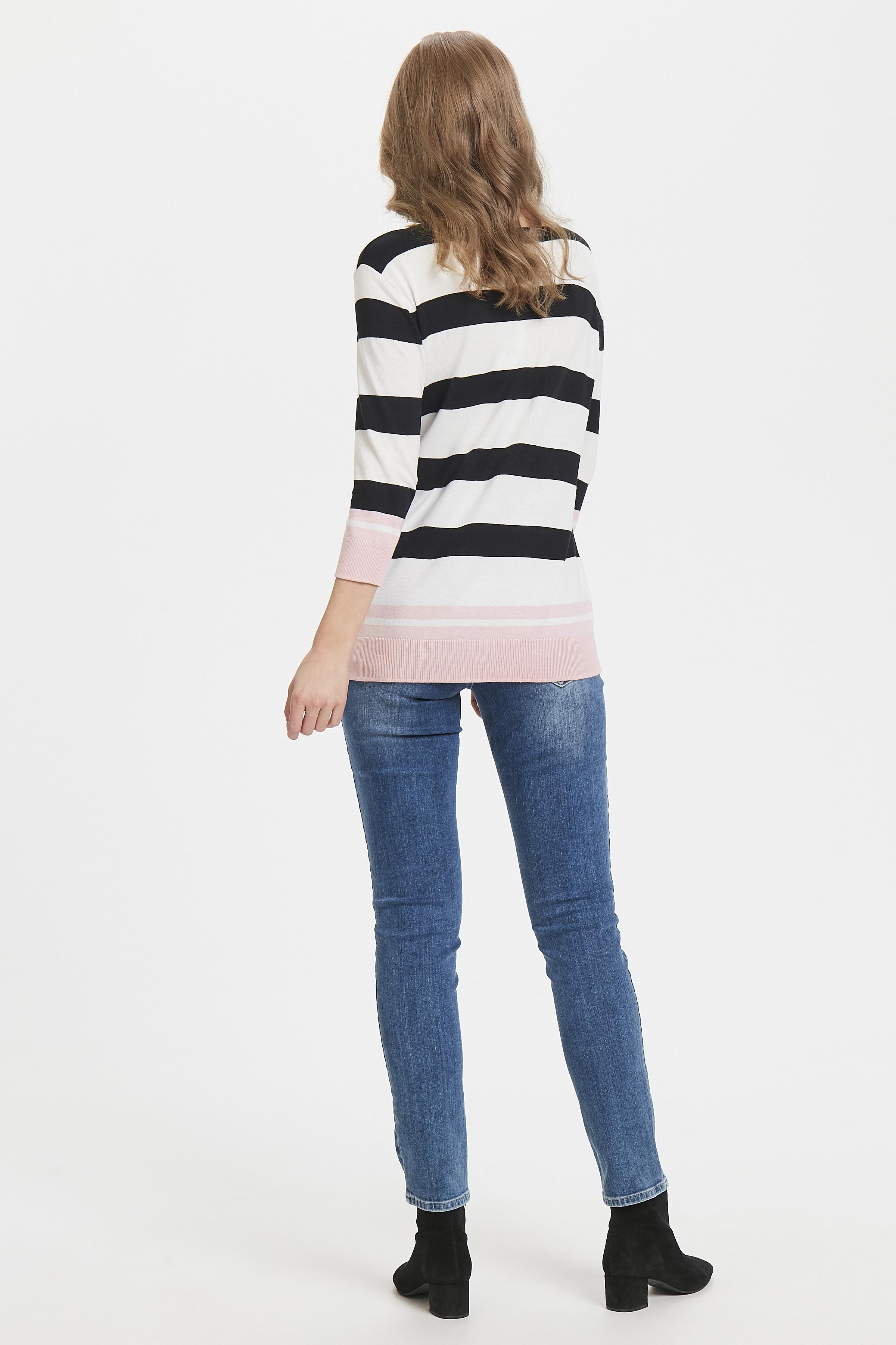 Hvid/lys pink Strikbluse fra Fransa – Køb Hvid/lys pink Strikbluse fra str. XS-XXL her