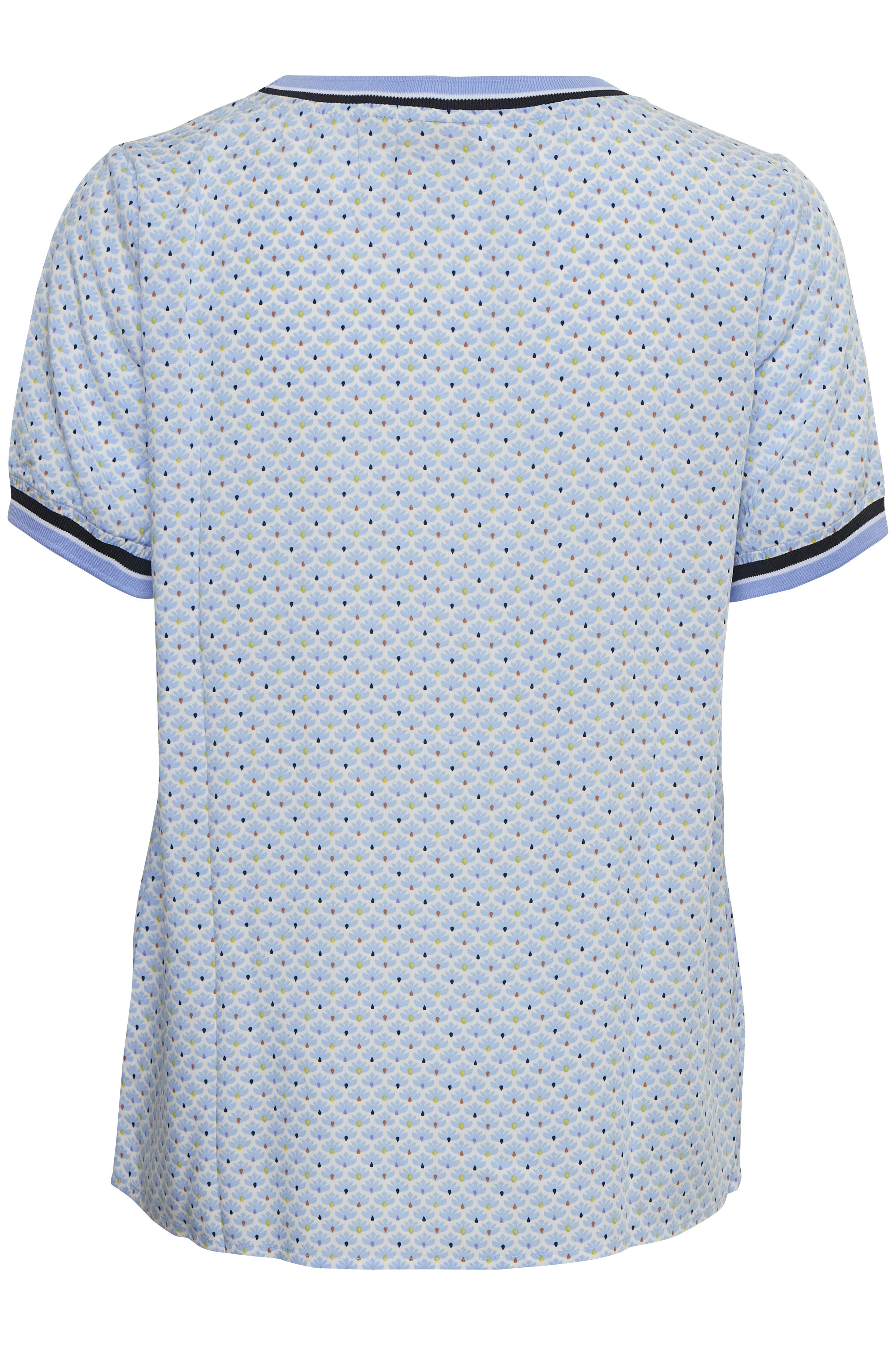 Hvid/lyseblå Kortærmet bluse fra Fransa – Køb Hvid/lyseblå Kortærmet bluse fra str. XS-XXL her