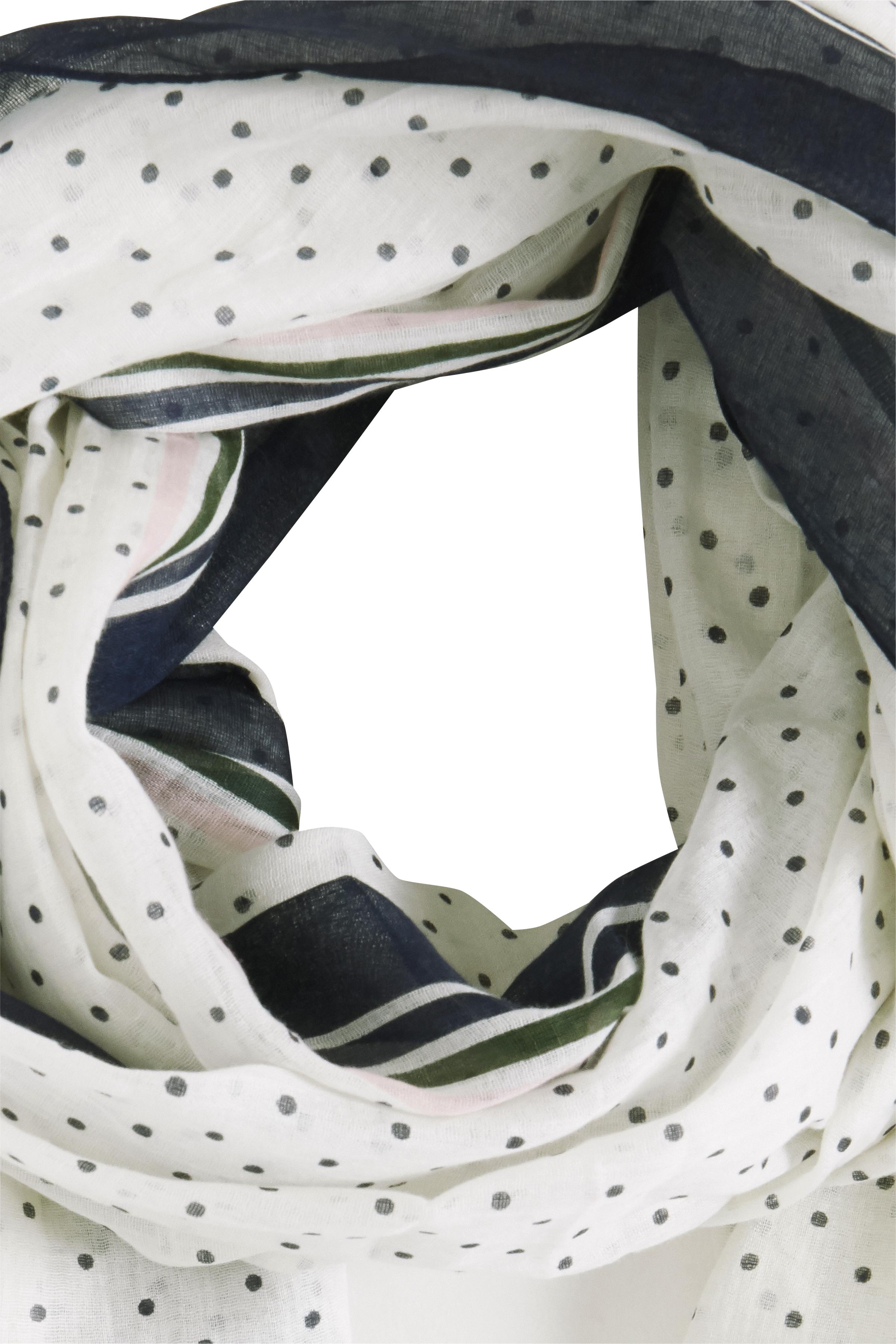 Hvid/marineblå Tørklæde fra Fransa – Køb Hvid/marineblå Tørklæde fra str. ONE her
