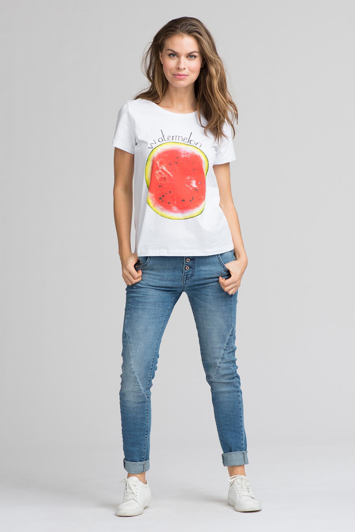 Hvid/rød Kortærmet T-shirt fra Fransa – Køb Hvid/rød Kortærmet T-shirt fra str. XS-XXL her