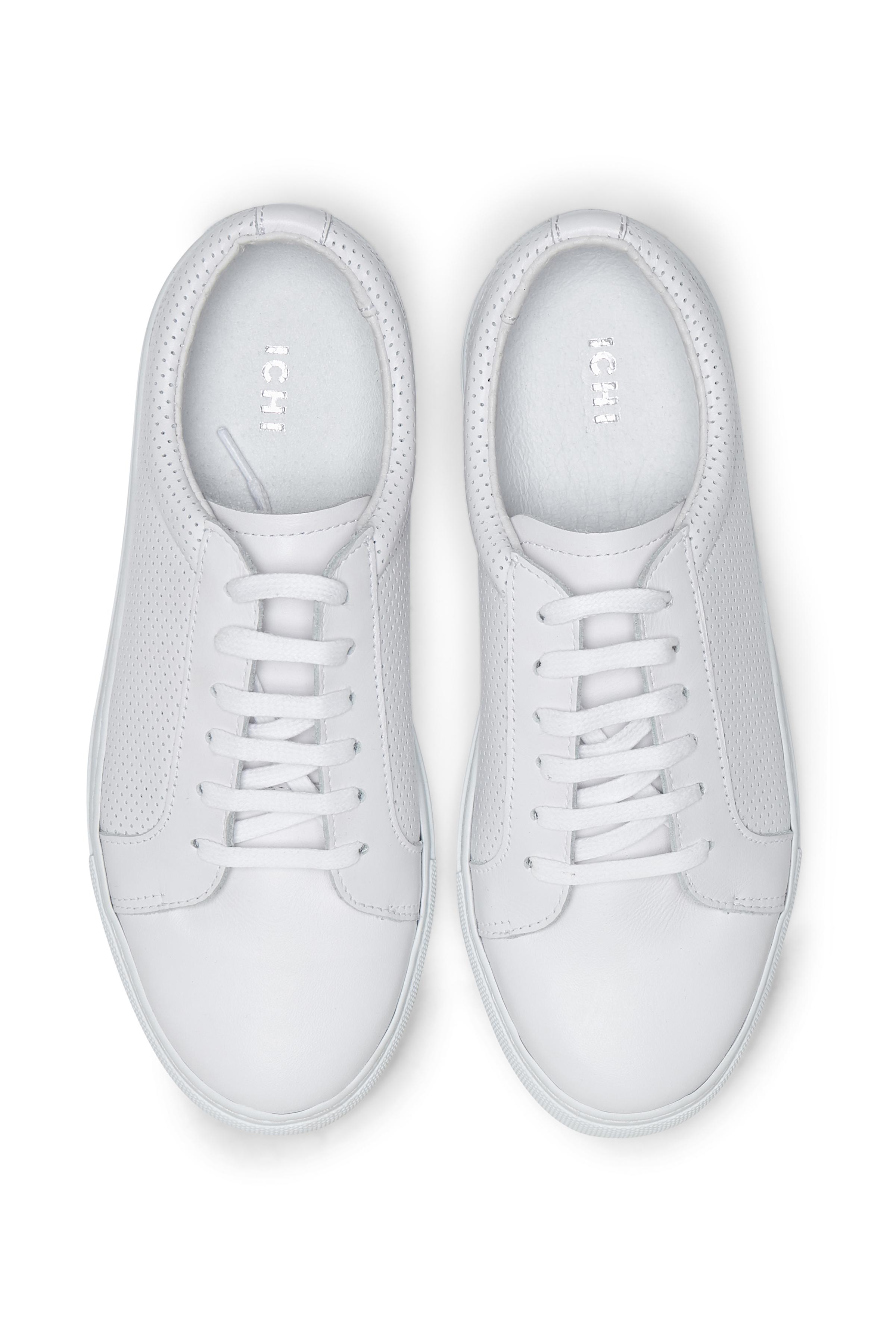Hvid Skindsko fra Ichi - accessories – Køb Hvid Skindsko fra str. 36-41 her