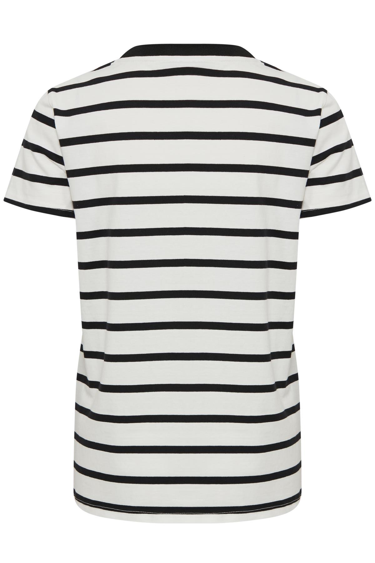 Hvid/sort Kortærmet T-shirt fra Kaffe – Køb Hvid/sort Kortærmet T-shirt fra str. XS-XXL her