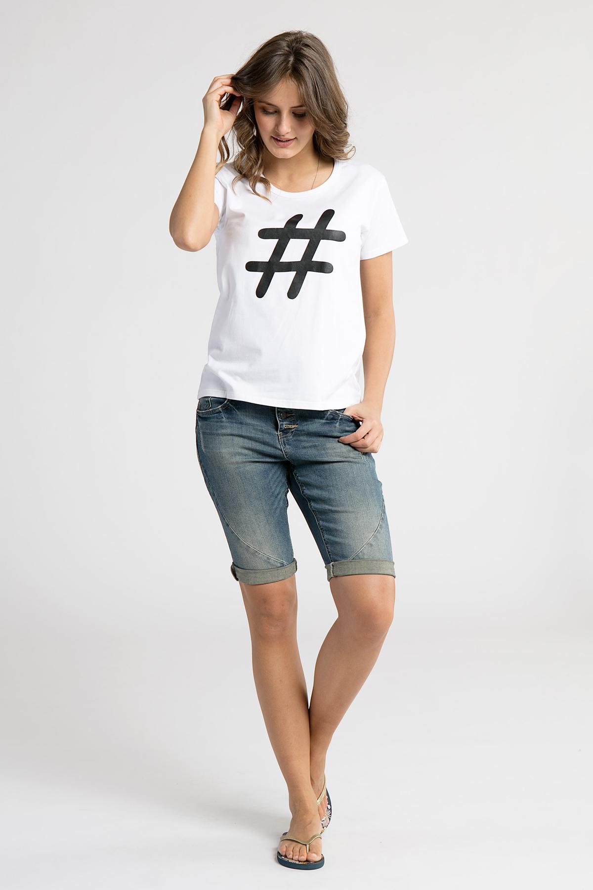 Hvid/sort Kortærmet T-shirt fra Dranella – Køb Hvid/sort Kortærmet T-shirt fra str. XS-XXL her