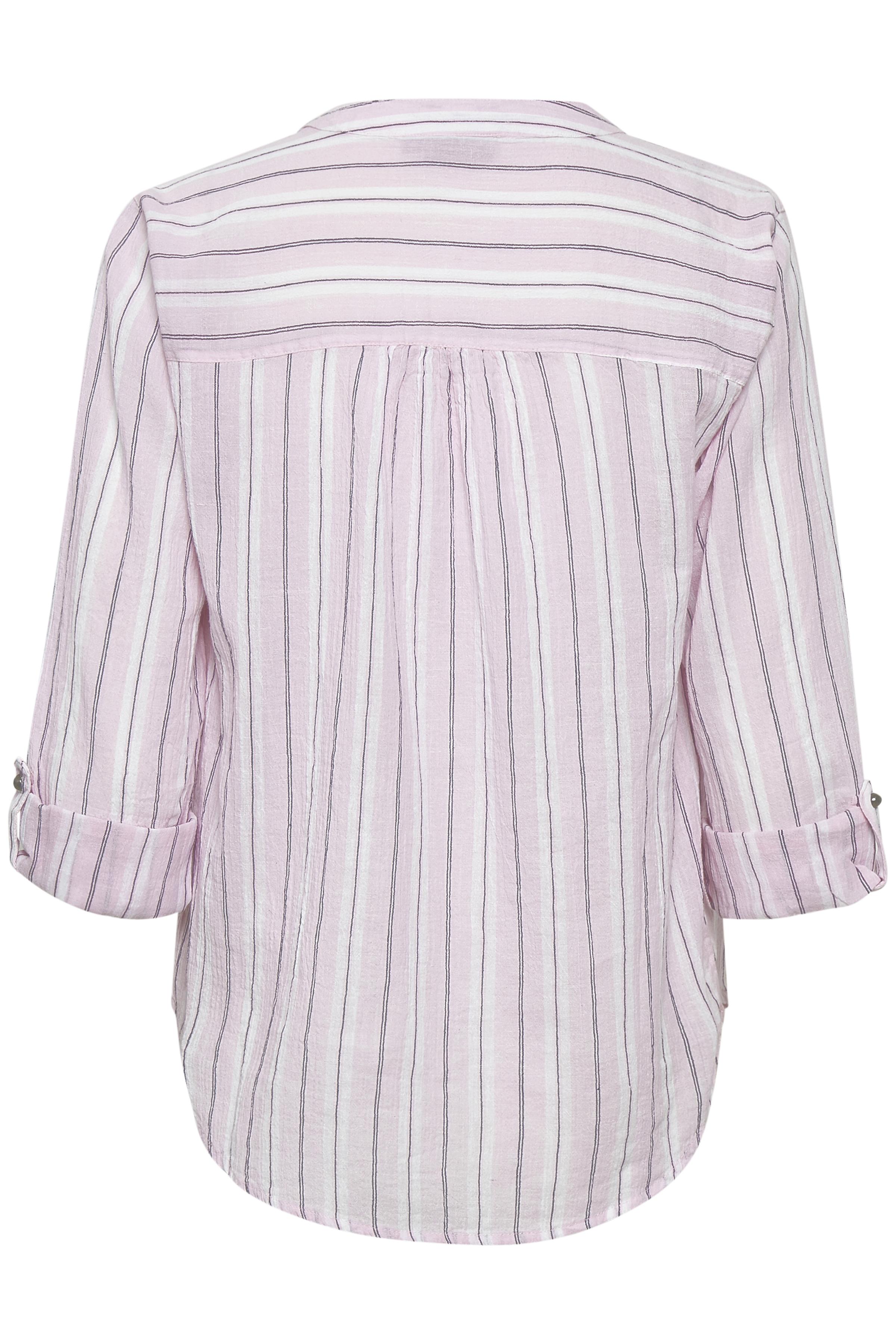 Hvid/sort Langærmet bluse fra Fransa – Køb Hvid/sort Langærmet bluse fra str. XS-XXL her