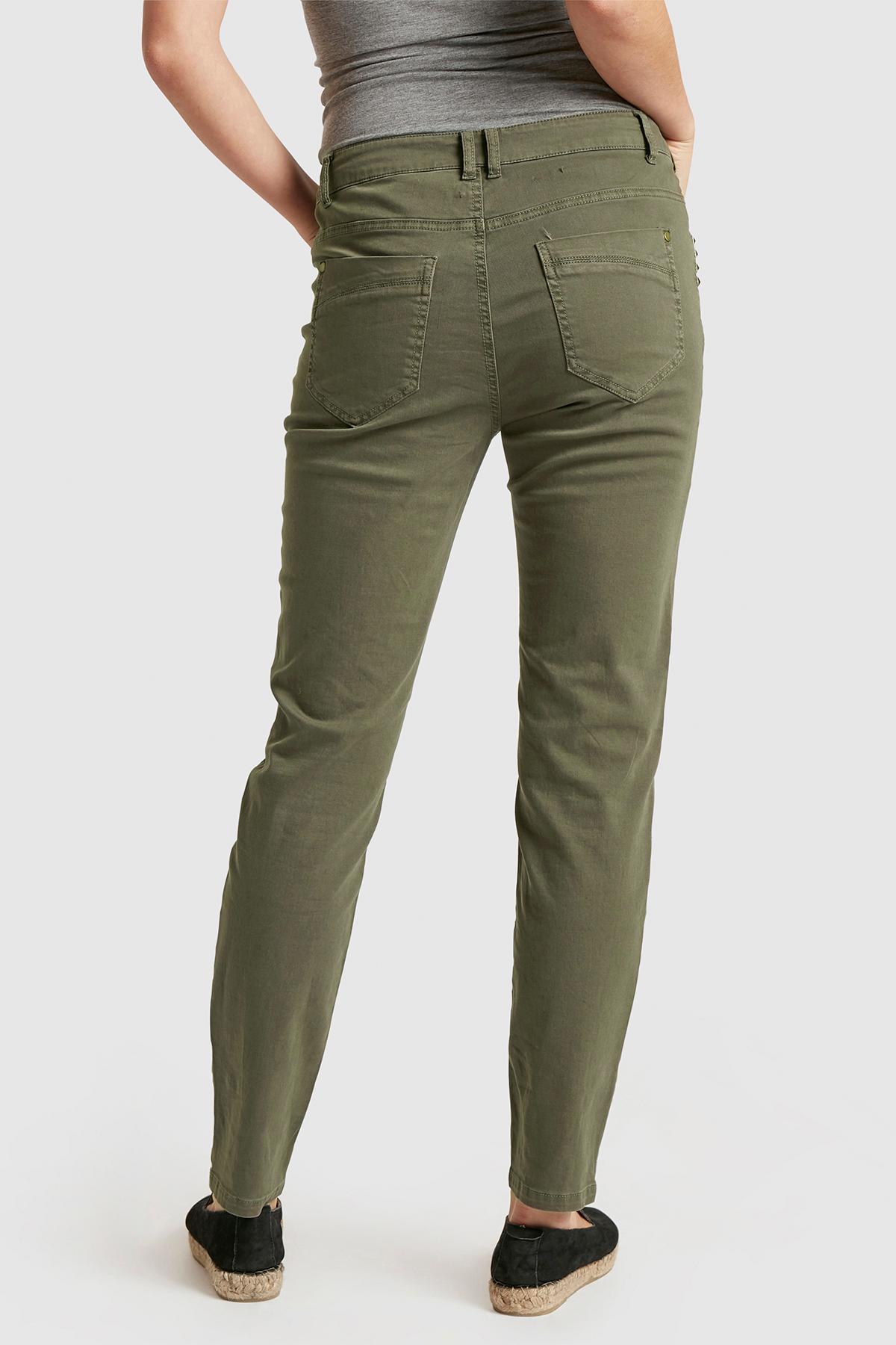 Kakigrön Casual byxor från Bon'A Parte – Köp Kakigrön Casual byxor från stl. 36-48 här
