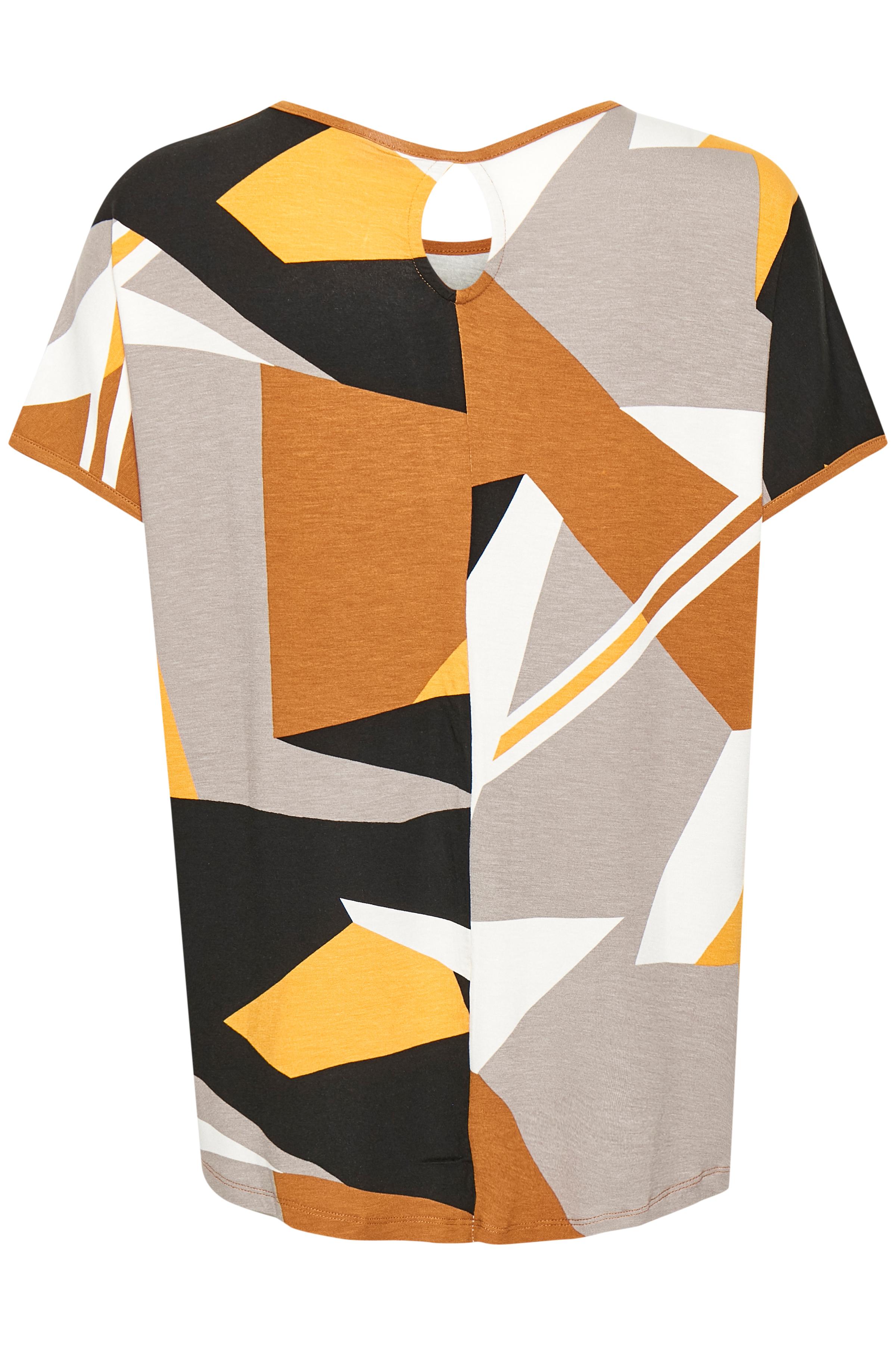 Karry/grå Kortærmet T-shirt fra Fransa – Køb Karry/grå Kortærmet T-shirt fra str. XS-XXL her