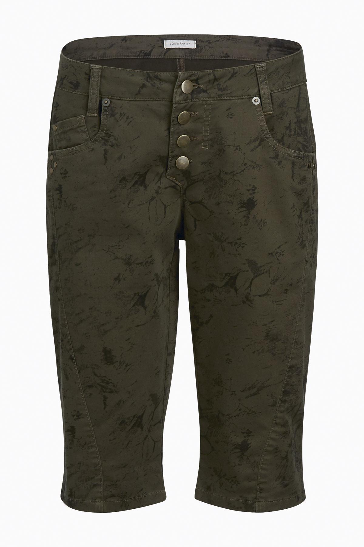 Khaki/grau Shorts von Bon'A Parte – Shoppen Sie Khaki/grau Shorts ab Gr. 34-54 hier