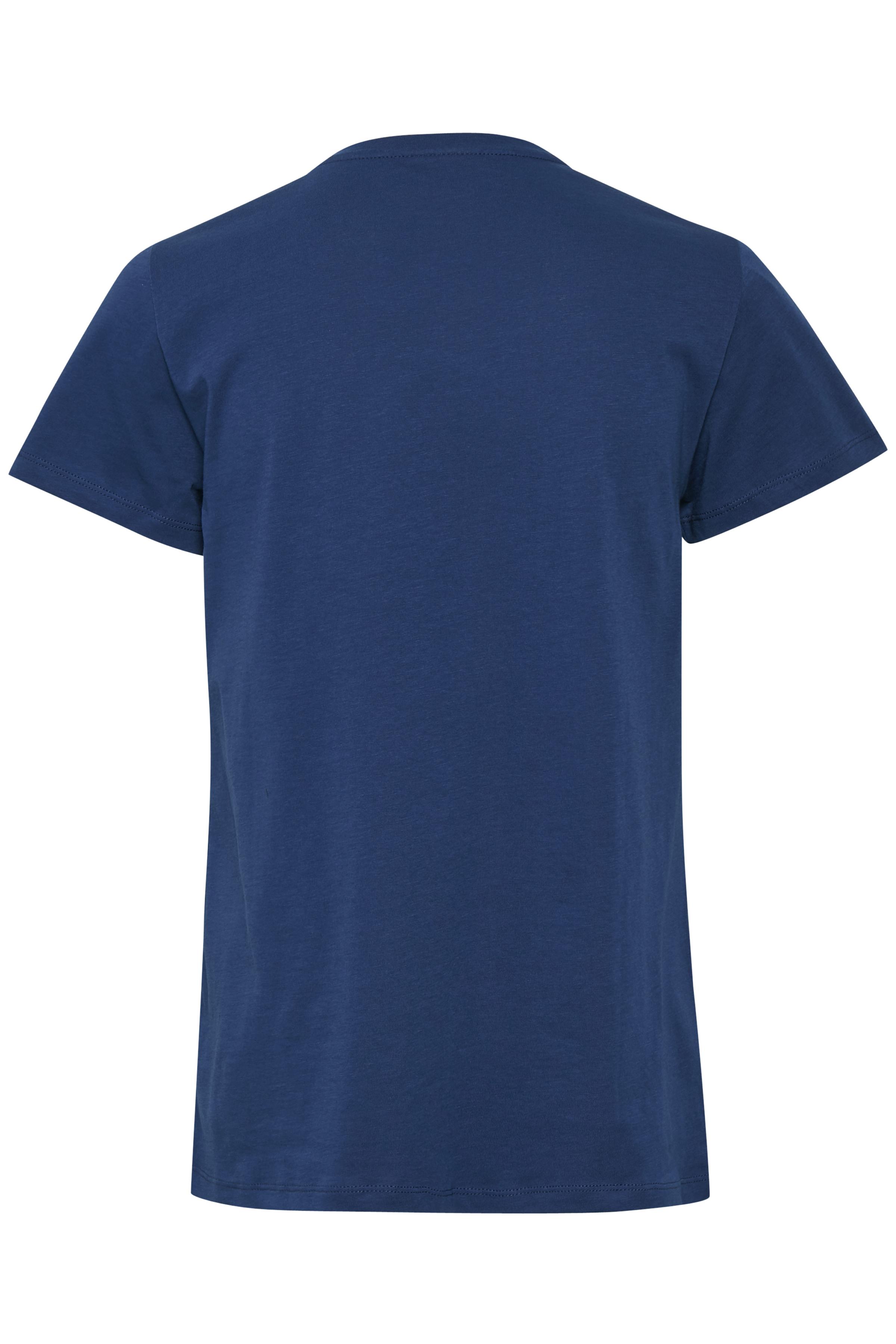 Kobaltblau Kurzarm T-Shirt von Kaffe – Shoppen Sie Kobaltblau Kurzarm T-Shirt ab Gr. XS-XXL hier