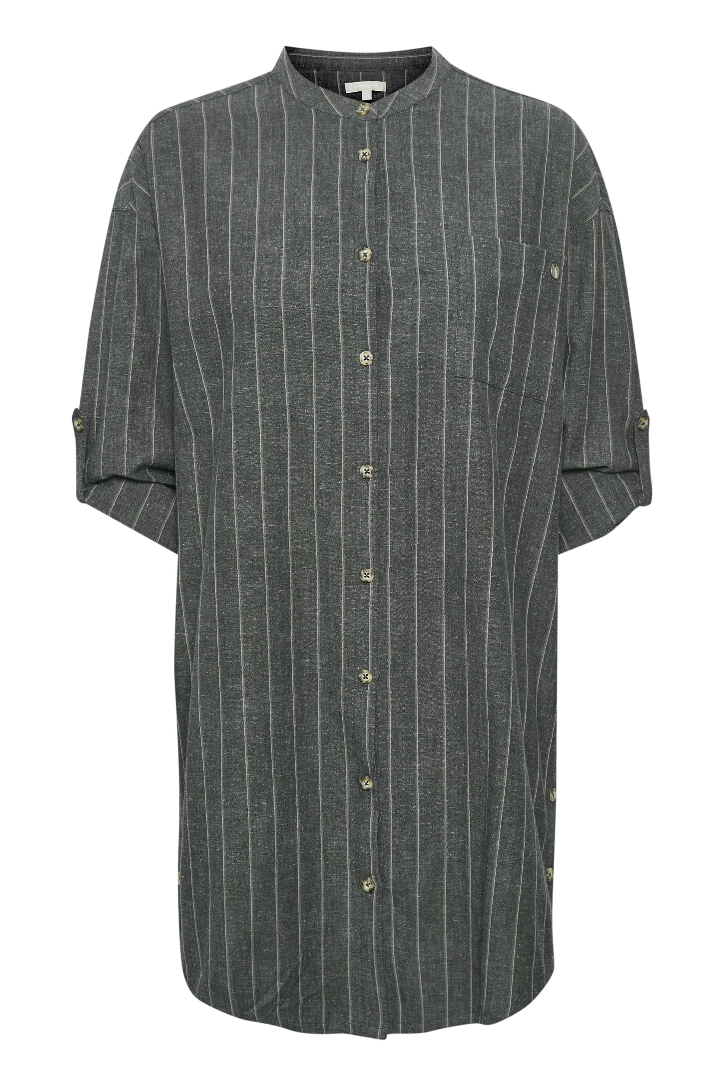 Koksgrå/grå Tunika fra Bon'A Parte – Køb Koksgrå/grå Tunika fra str. S-2XL her