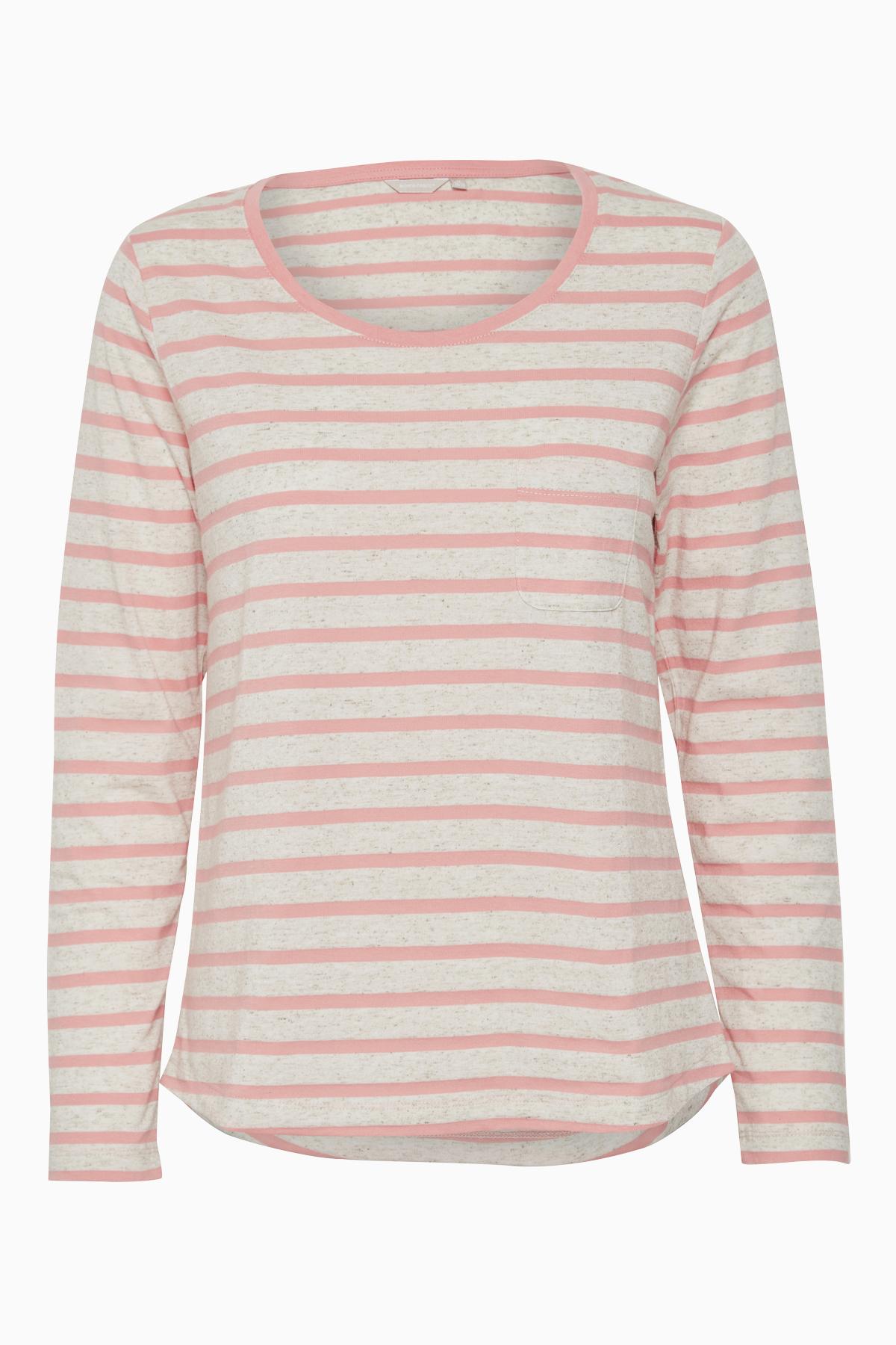 Koralle/sand Langarm T-Shirt von Bon'A Parte – Shoppen Sie Koralle/sand Langarm T-Shirt ab Gr. S-3XL hier