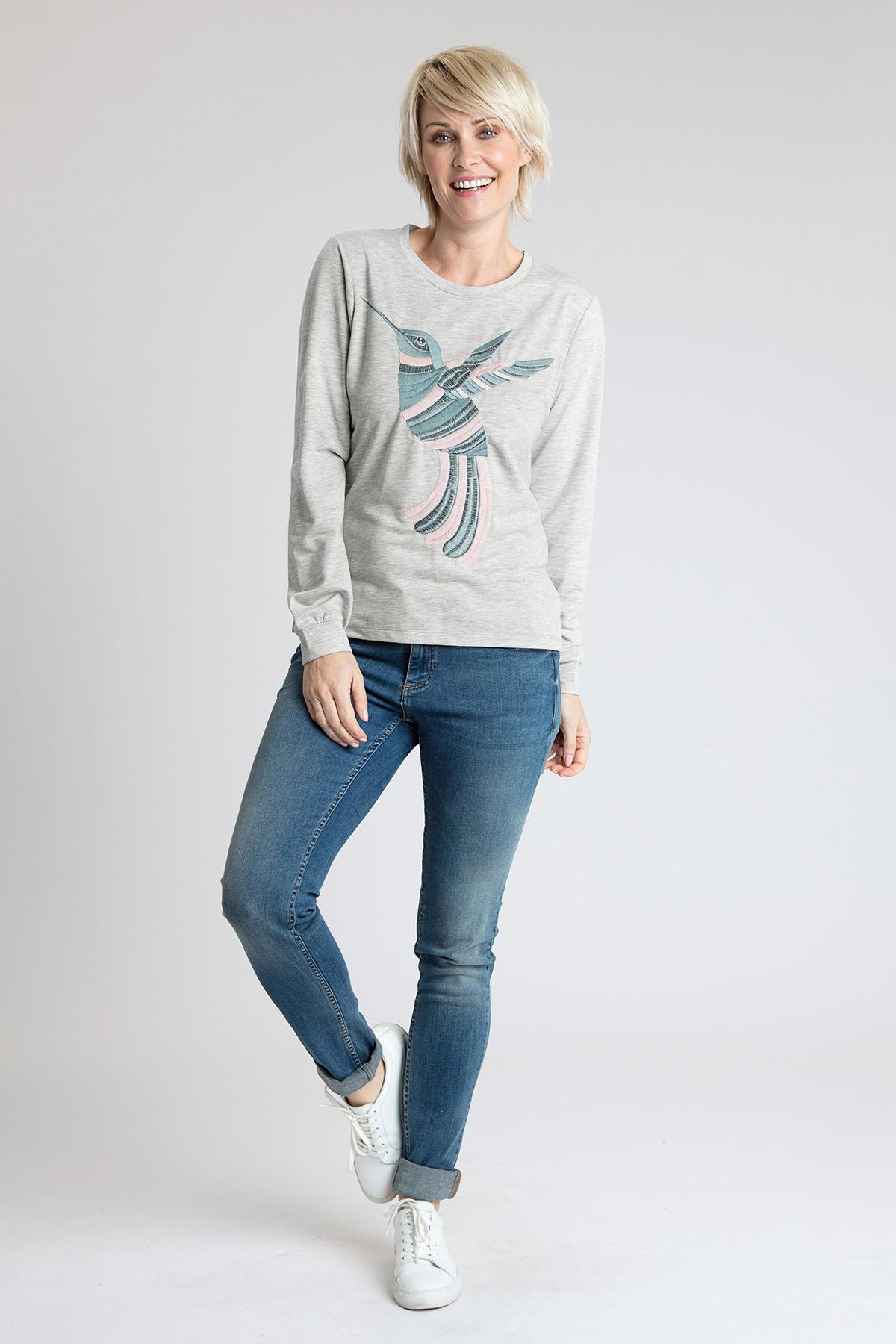 Licht grijsgemêleerd Sweatshirt van Kaffe – Door Licht grijsgemêleerd Sweatshirt van maat. XS-XXL hier