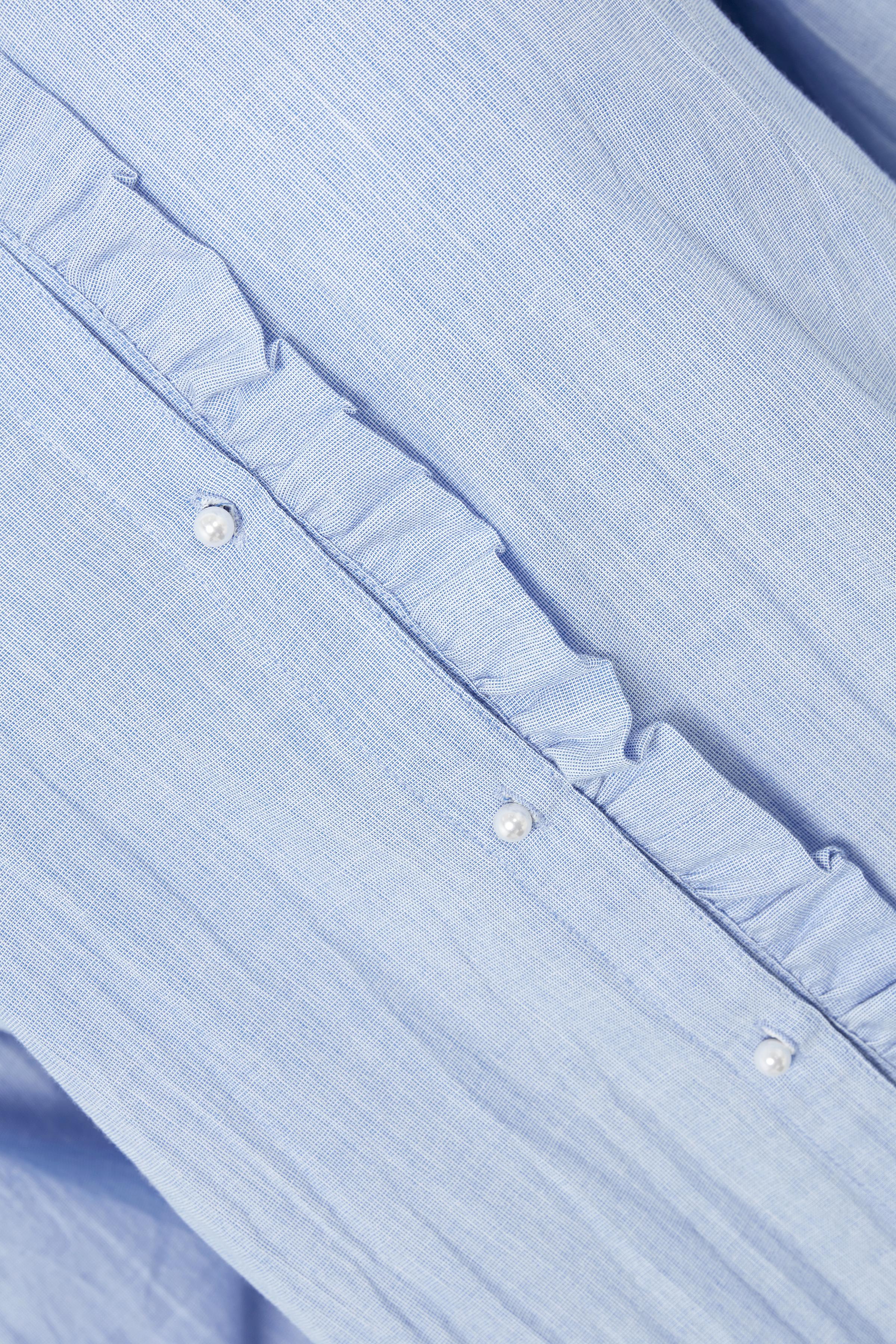 Lichtblauw Blouse lange mouw van Kaffe – Door Lichtblauw Blouse lange mouw van maat. 34-46 hier