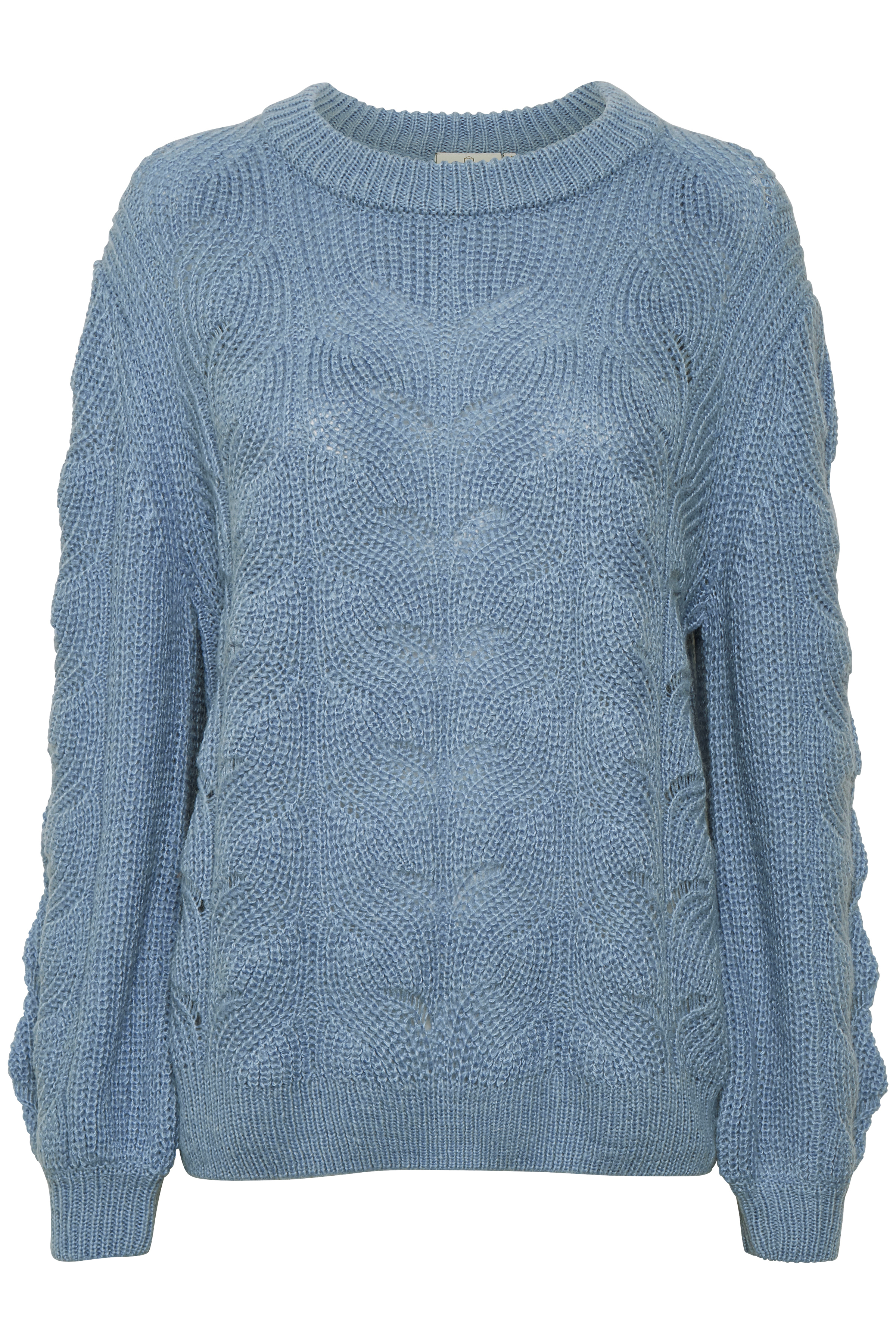 Lichtblauw Gebreide trui van Kaffe – Door Lichtblauw Gebreide trui van maat. XS-XXL hier